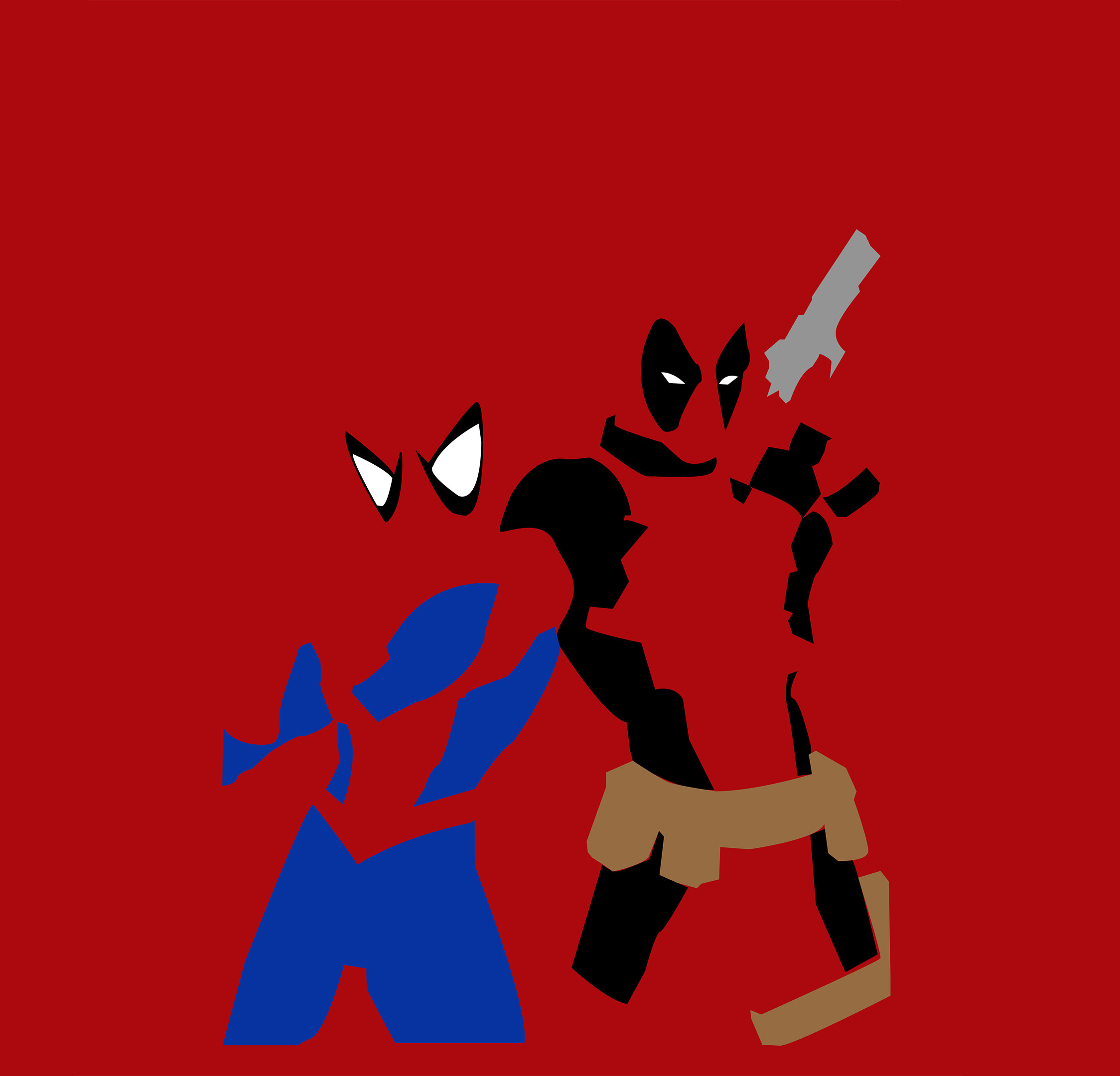 Download 2248x2248 wallpaper spider-man and deadpool ...