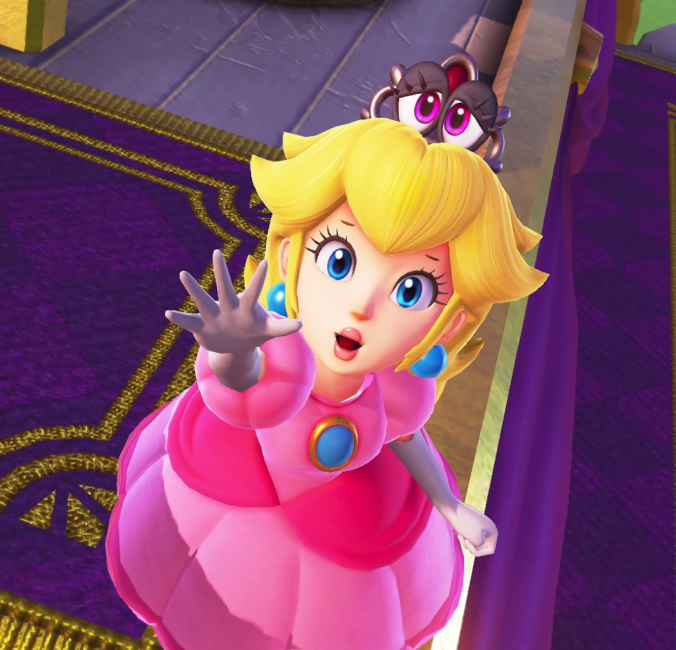 Download 2248x2248 Wallpaper Blonde Princess Super Mario Odyssey