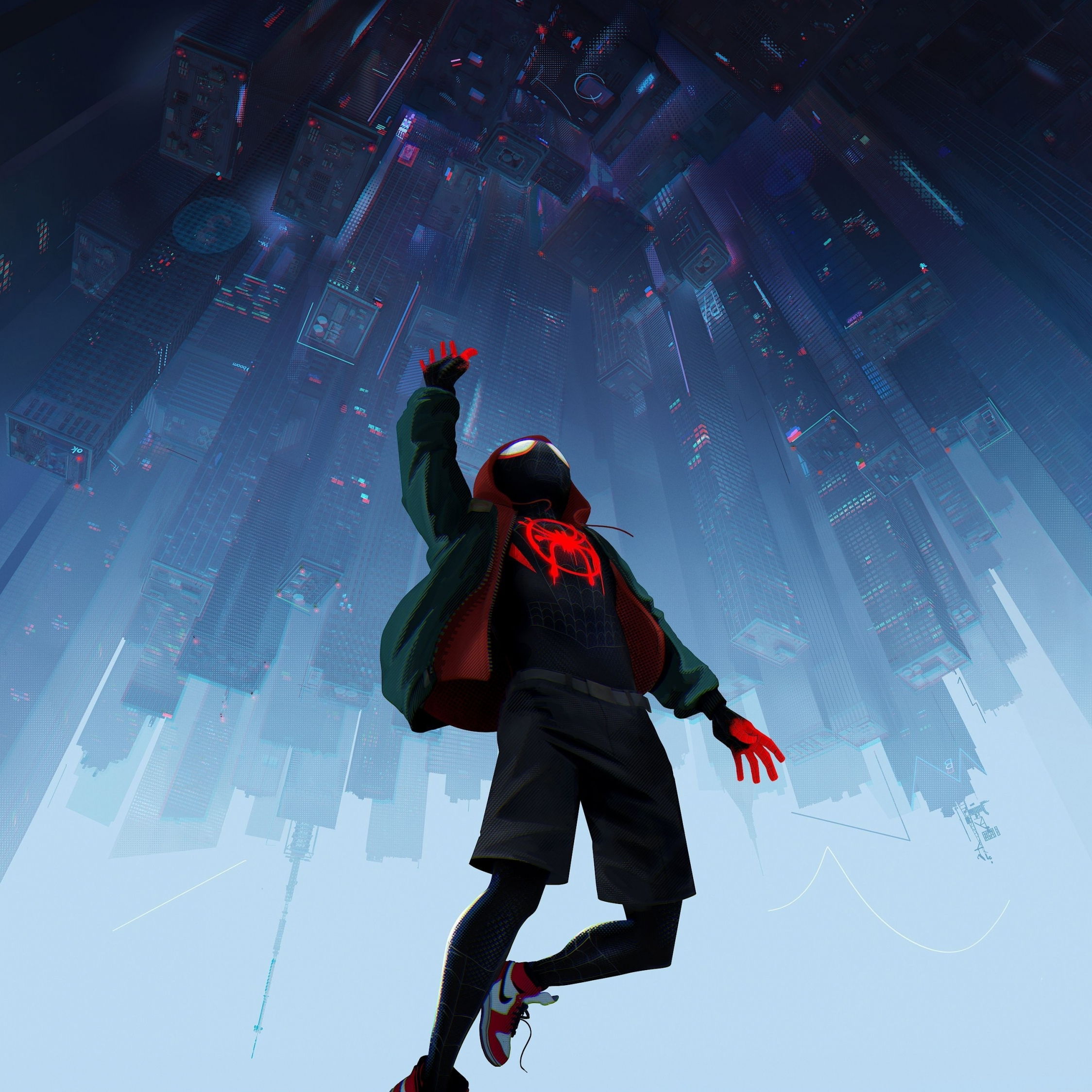 Download 2248x2248 Wallpaper Spider-man: Into The Spider