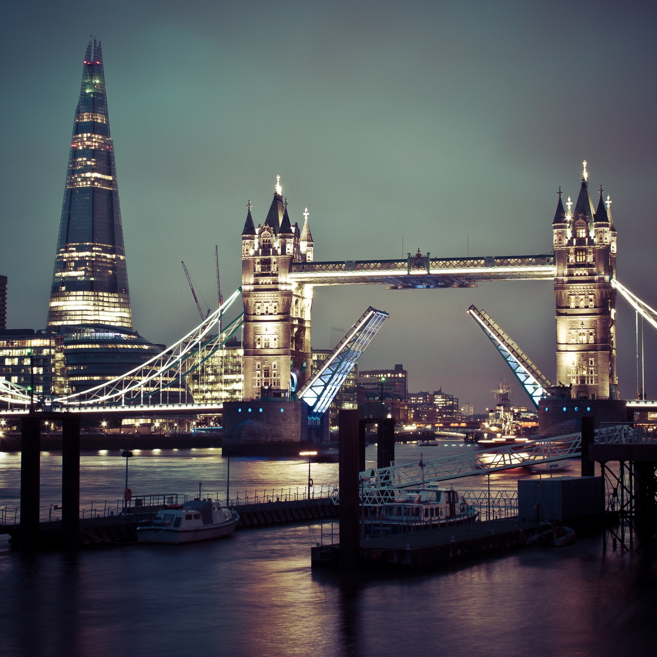 Download 2248x2248 Wallpaper Tower Bridge, London