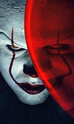 Joker, clown, it, balloon, movie, 240x400 wallpaper