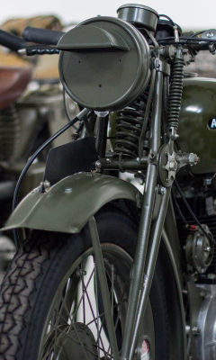 Vintage, retro, motorcycle, bike, front, 240x400 wallpaper