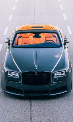 2017 spofec Rolls-Royce Dawn overdose, front view, 240x400 wallpaper