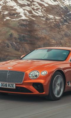 Orange, Bentley Continental GT, 240x400 wallpaper