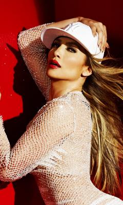 JLO, Jennifer Lopez, celebrity, white dress, 240x400 wallpaper