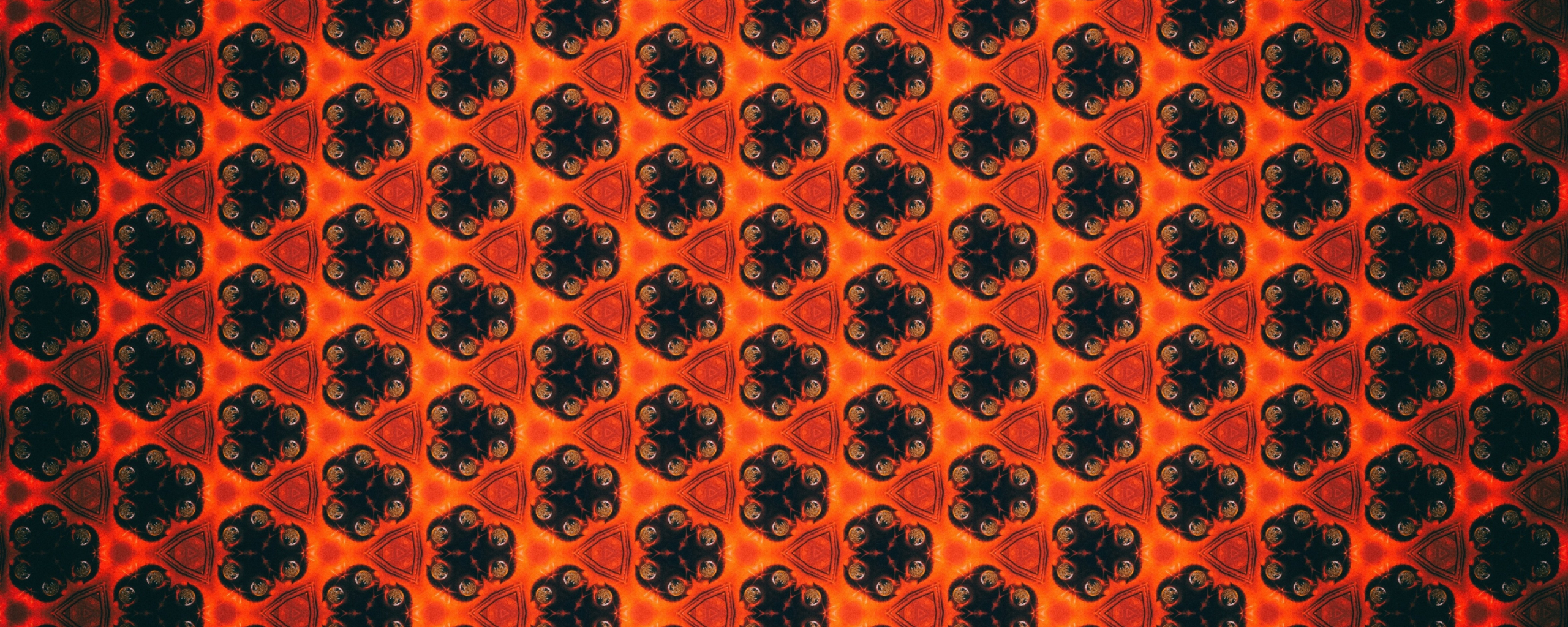 Patterns, flowers, shapes, abstract, 2560x1024 wallpaper