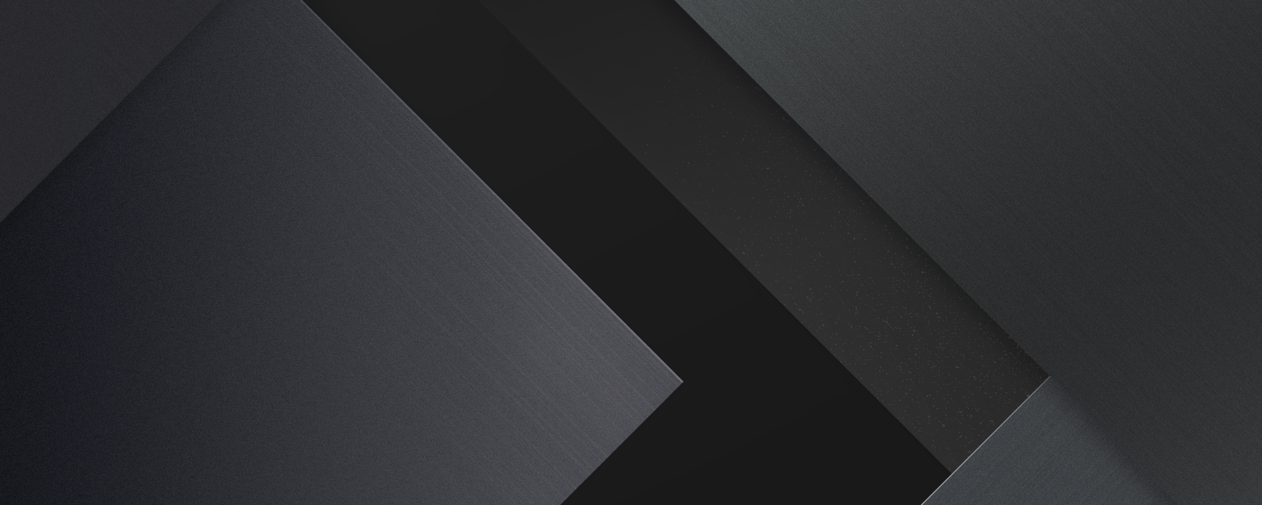 Material Design, Geometric, Stock, Dark Black, 2560X1024 Wallpaper