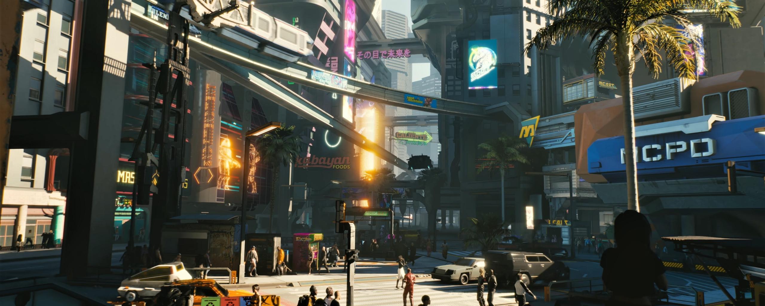 Cyberpunk 2077 City Wallpaper: Download 2560x1024 Wallpaper Modern City, Cyberpunk 2077