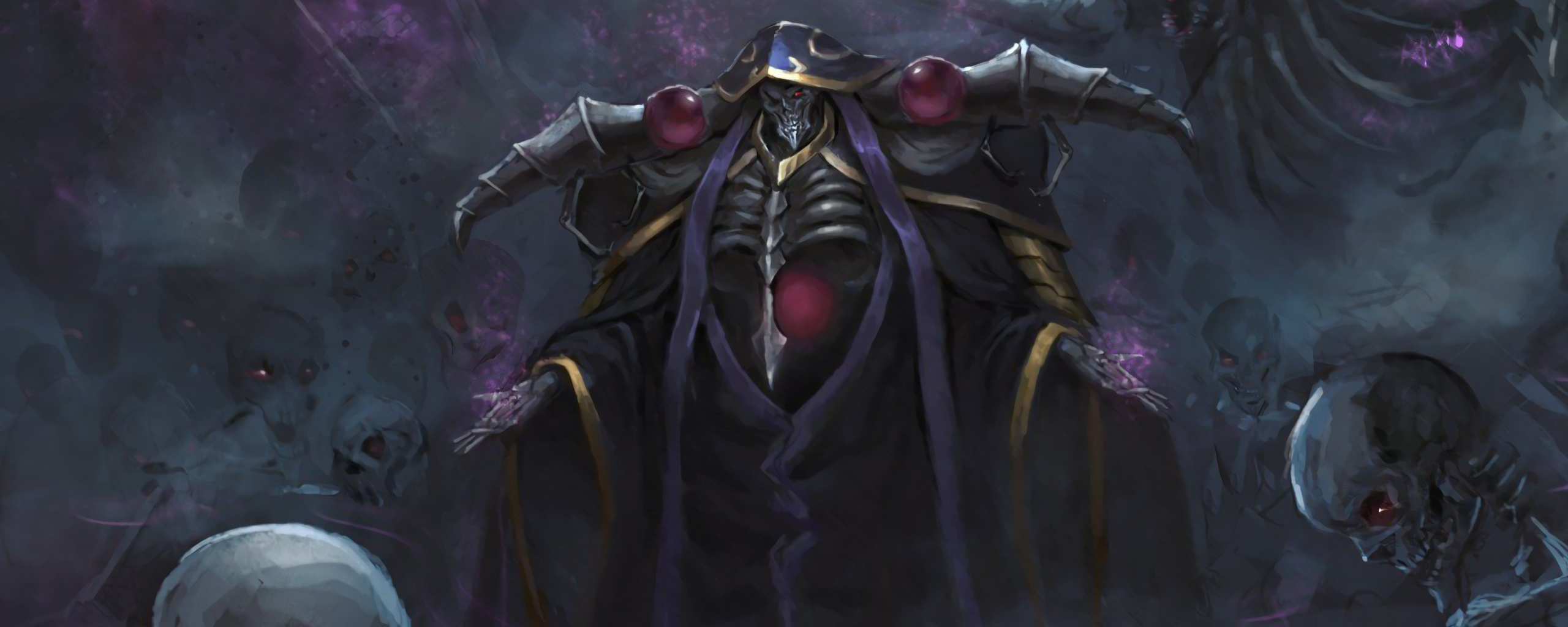 Downaload Overlord King And Warriors Art Wallpaper: 2560x1024 Wallpapers