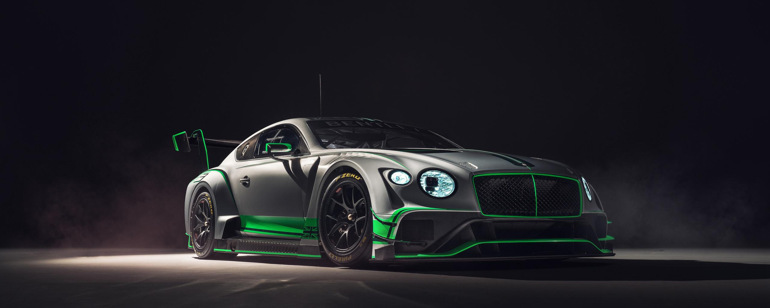 2018 Bentley Continental GT3, 2018 luxury car, 2560x1024 wallpaper