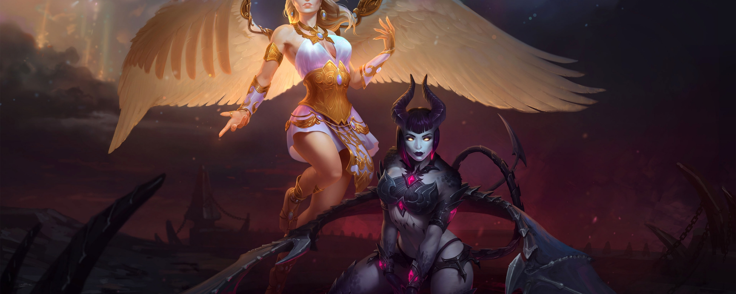 Download 750x1334 wallpaper 2019, smite, video game, angel and.