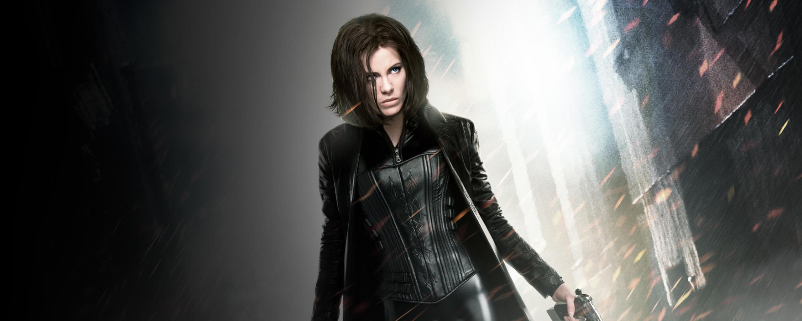 Vampire, Kate Beckinsale, Underworld, movie, 2560x1024 wallpaper