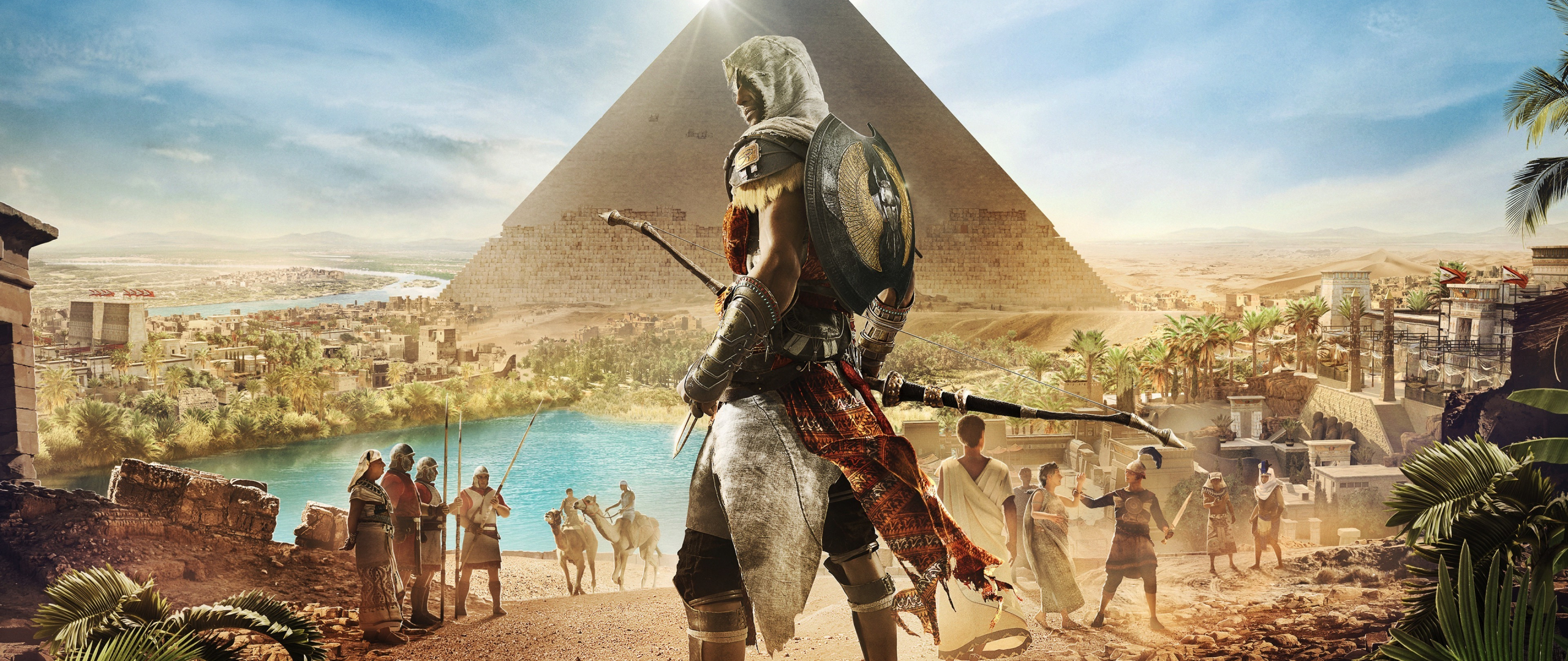 Download 2560x1080 Wallpaper Assassin S Creed Origins Egypt Pyramids Video Game Dual Wide