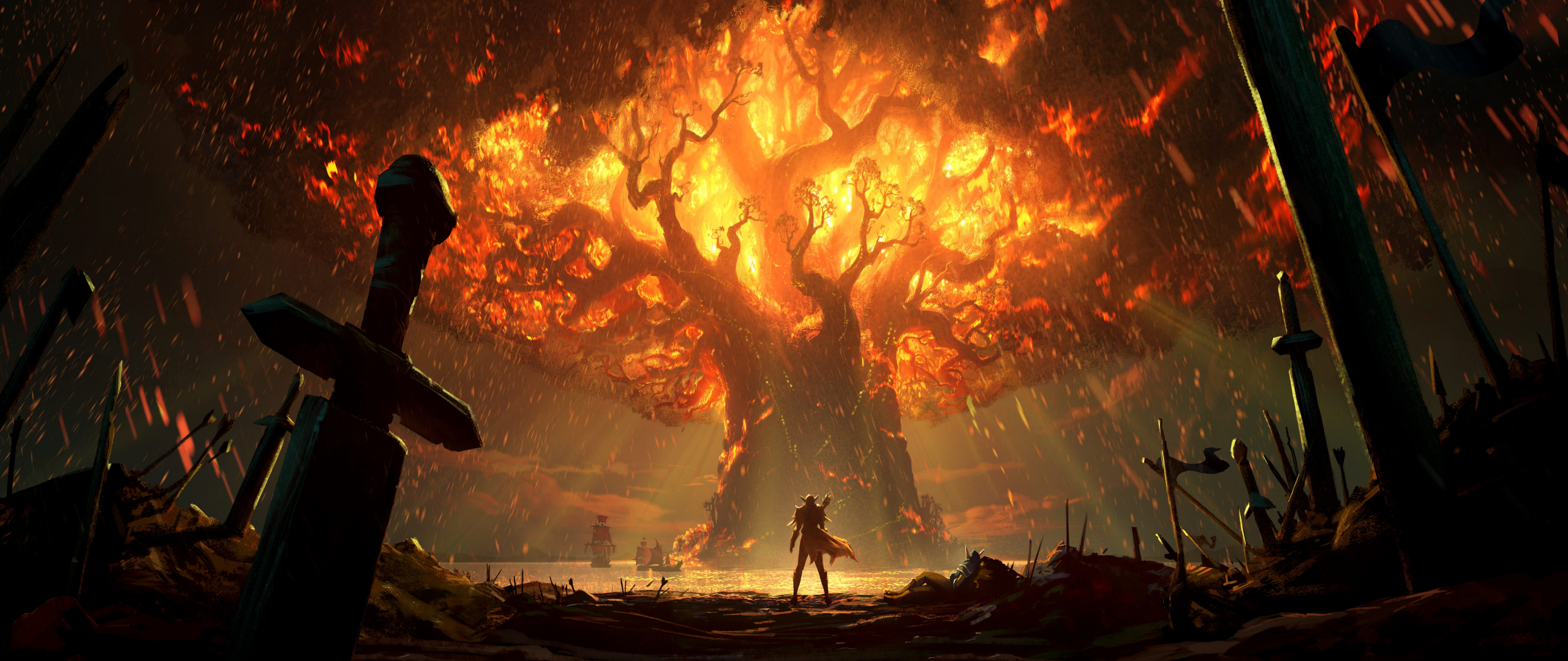 Download 2560x1080 Wallpaper World Of Warcraft Battle For