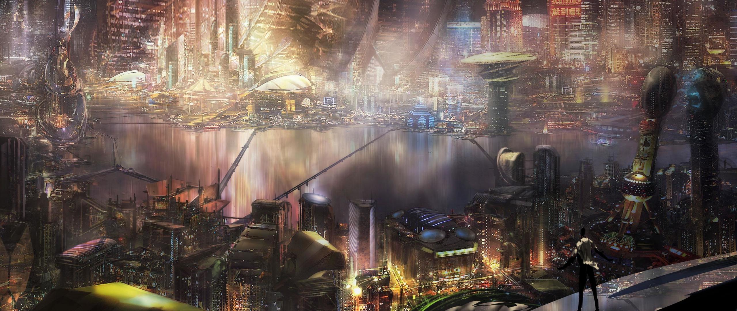 2560x1080 Final Fantasy Xv Artwork 2560x1080 Resolution Hd: Download 2560x1080 Wallpaper Cyberpunk, City, Cityscape
