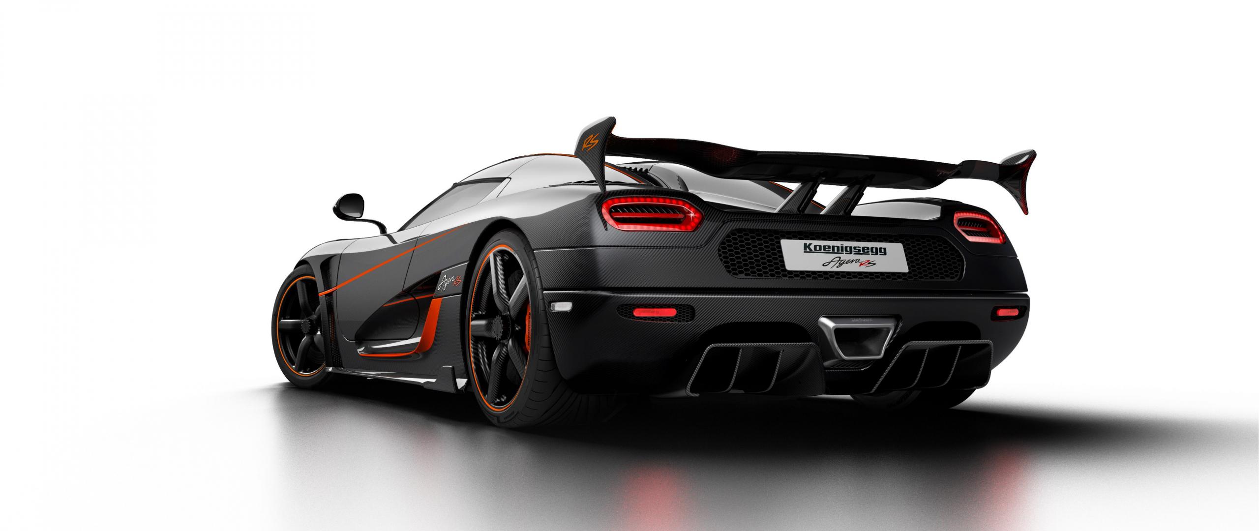 Koenigsegg Agera RS, sports car, rear, 2560x1080 wallpaper