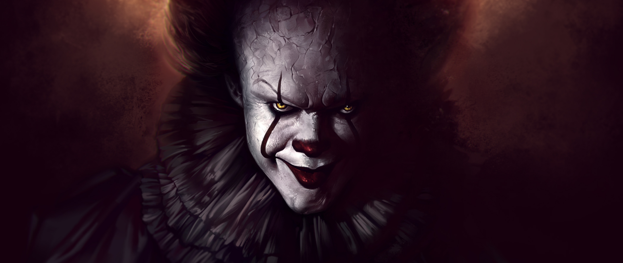 Download 2560x1080 wallpaper pennywise, the dancing clown ...