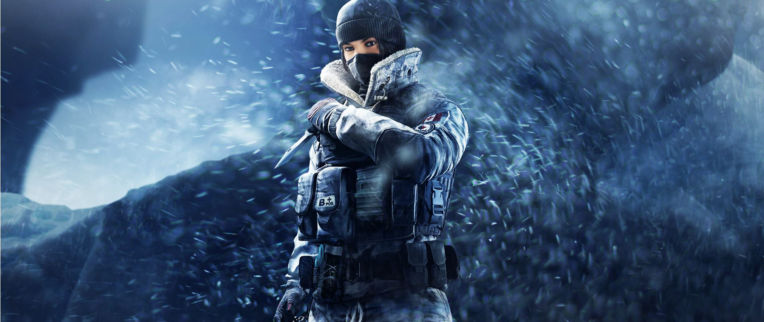 Tom Clancy's Rainbow Six Siege, girl soldier, frost, game, 2560x1080 wallpaper