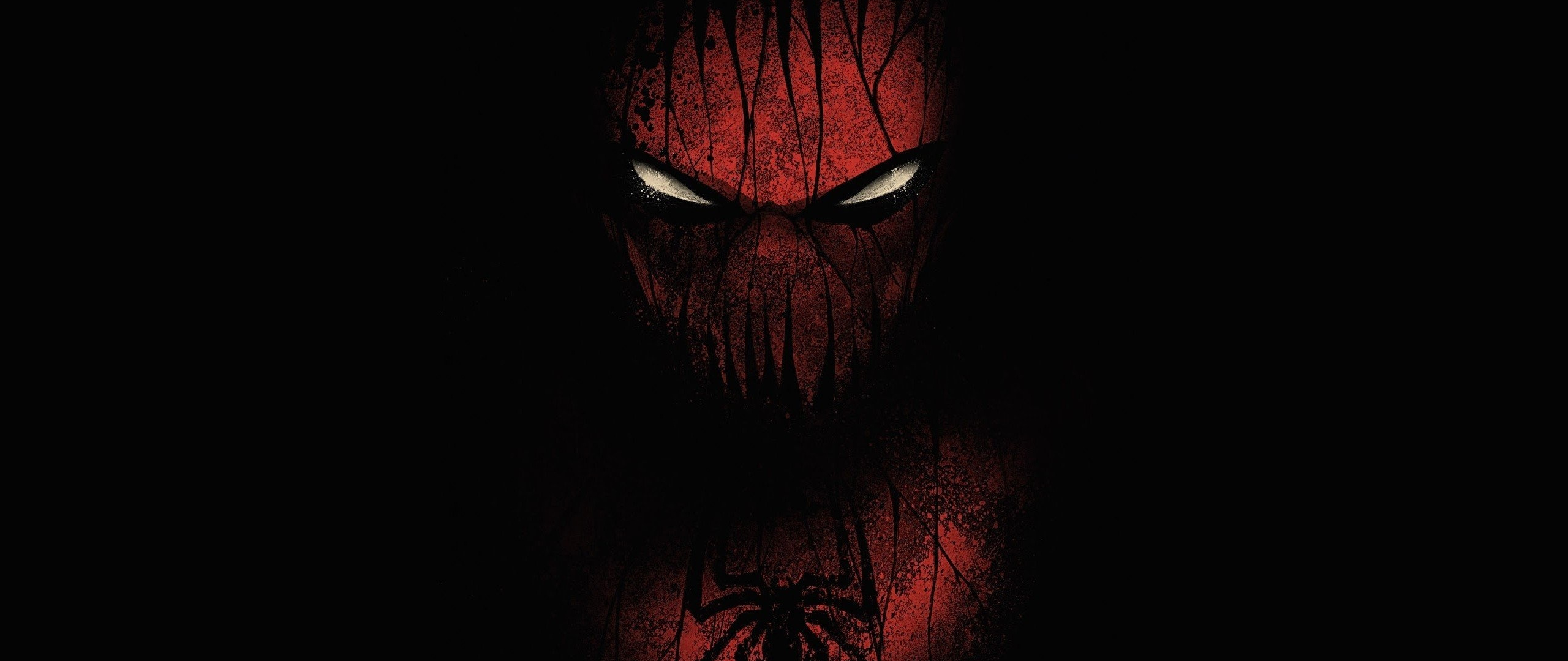 Download 2560x1080 Wallpaper Red And Black Spiderman