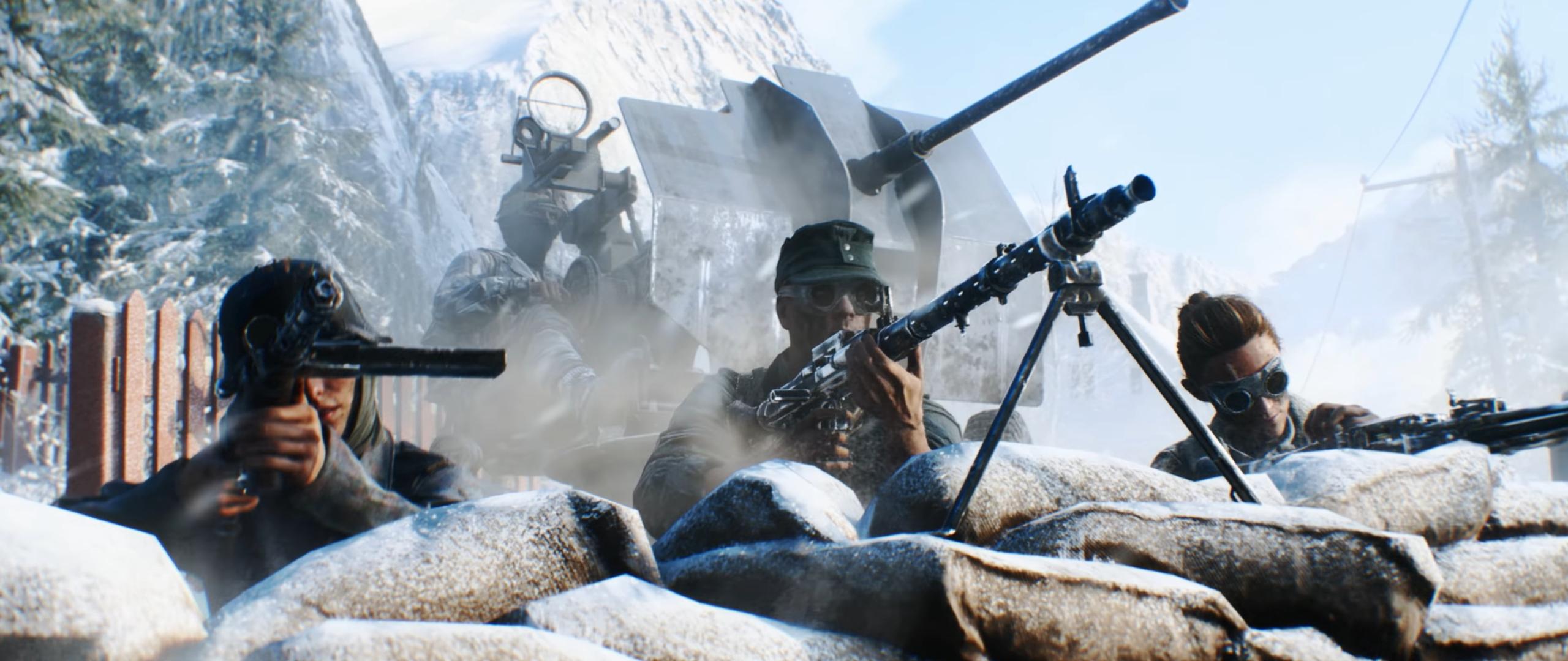 Download 2560x1080 Wallpaper Battlefield 5 Soldiers 2018