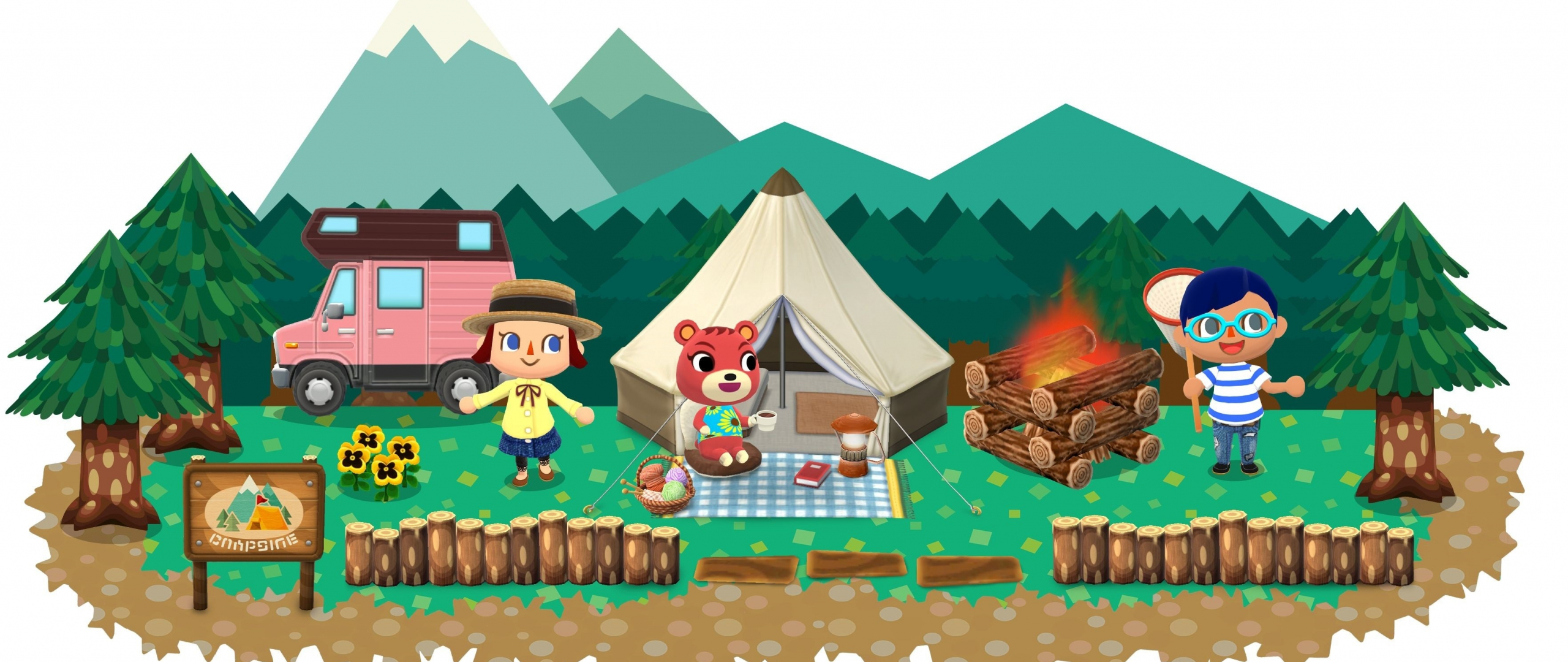 Download 2560x1080 Wallpaper Animal Crossing Pocket Camp Mobile