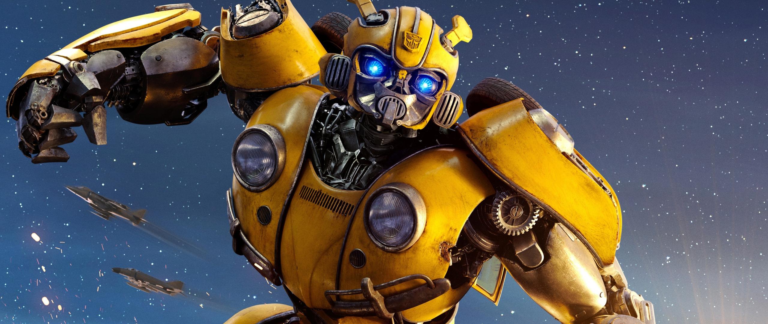 Download 2560x1080 wallpaper movie, 2018, robot, bumblebee ...