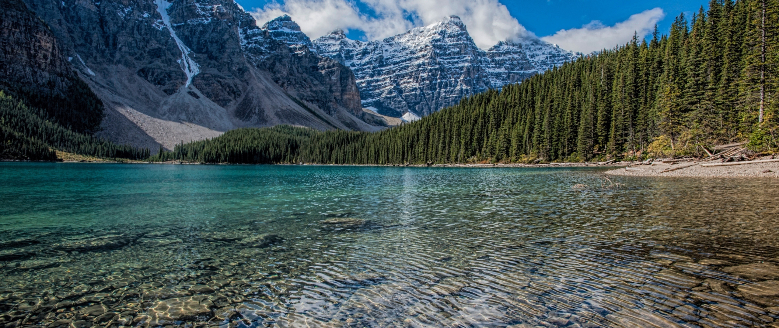 download 2560x1080 wallpaper clean lake  mountains range  trees  nature  dual wide  widescreen