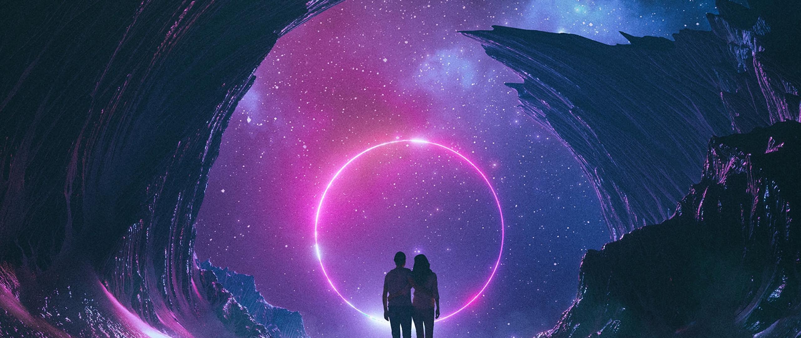 Download 2560x1080 wallpaper couple digital art fantasy - Fantasy wallpaper digital art ...