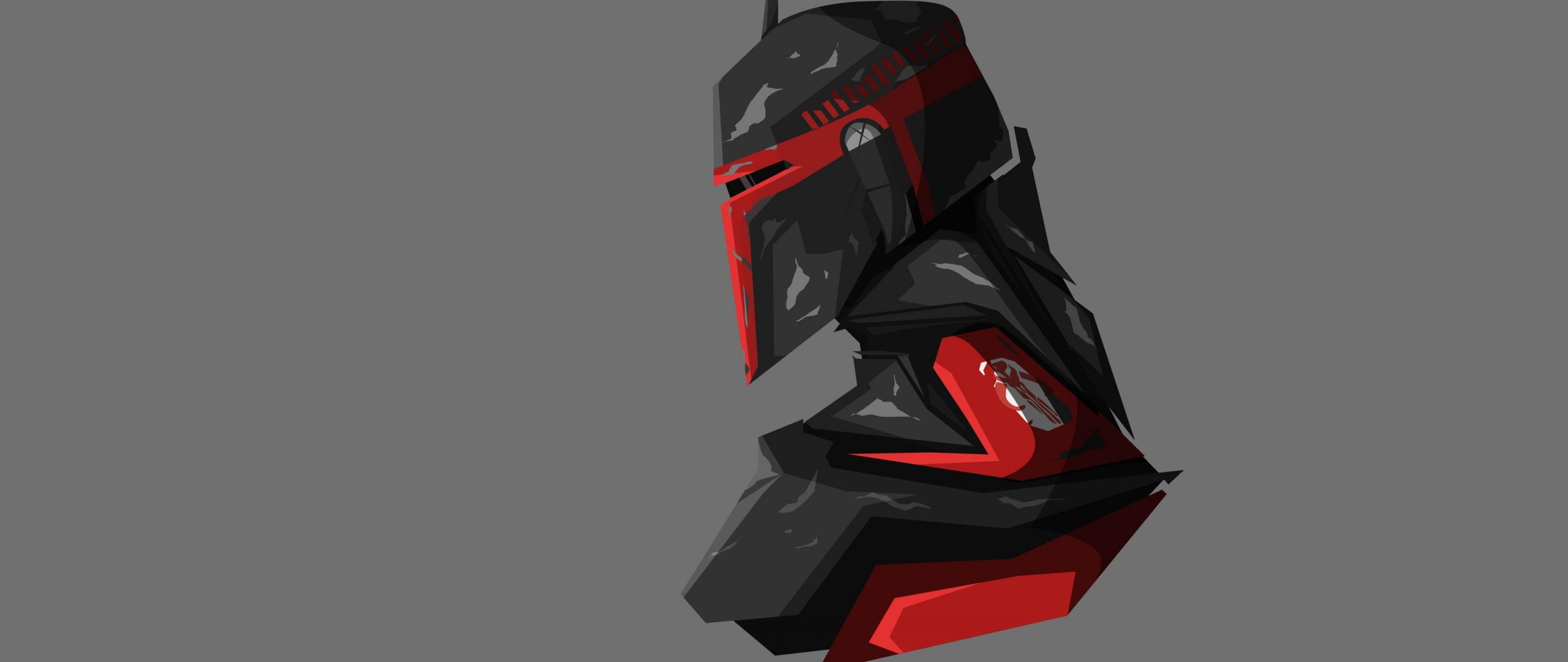 Download 2560x1080 Wallpaper Boba Fett Star Wars Captain Art