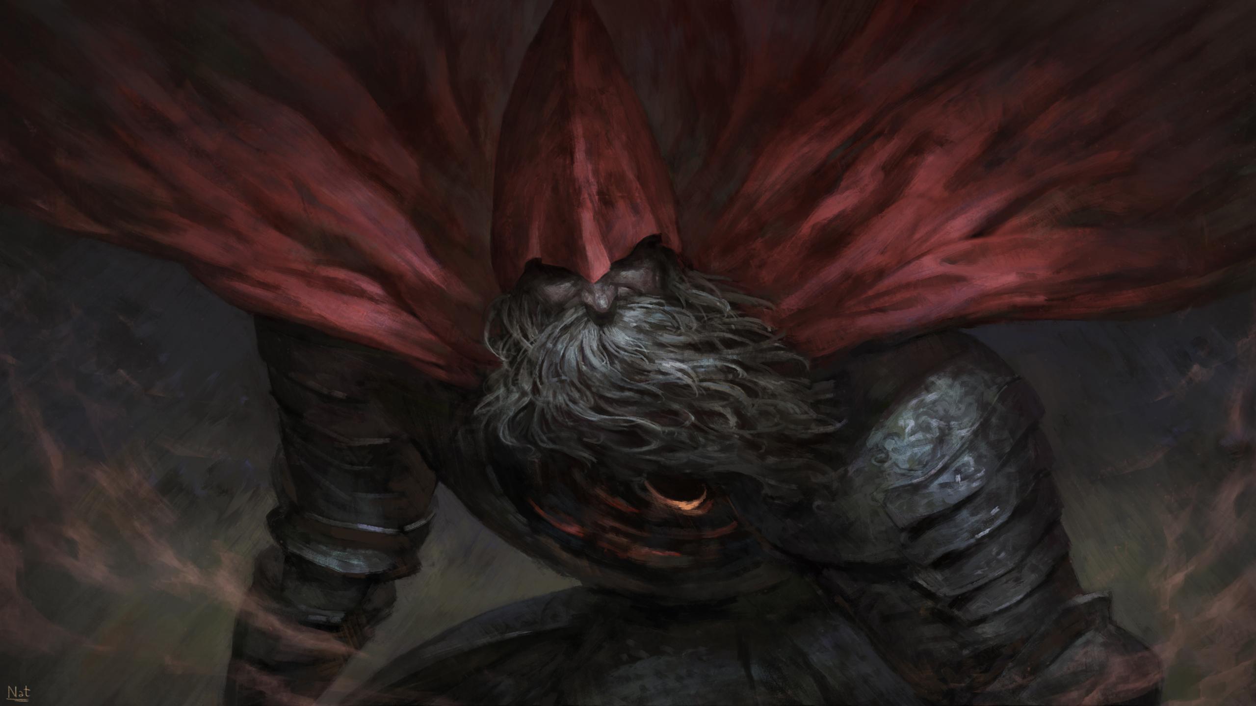 Dark Souls 3 21 9: Download 2560x1440 Wallpaper Big Beard Man, Warrior, Dark