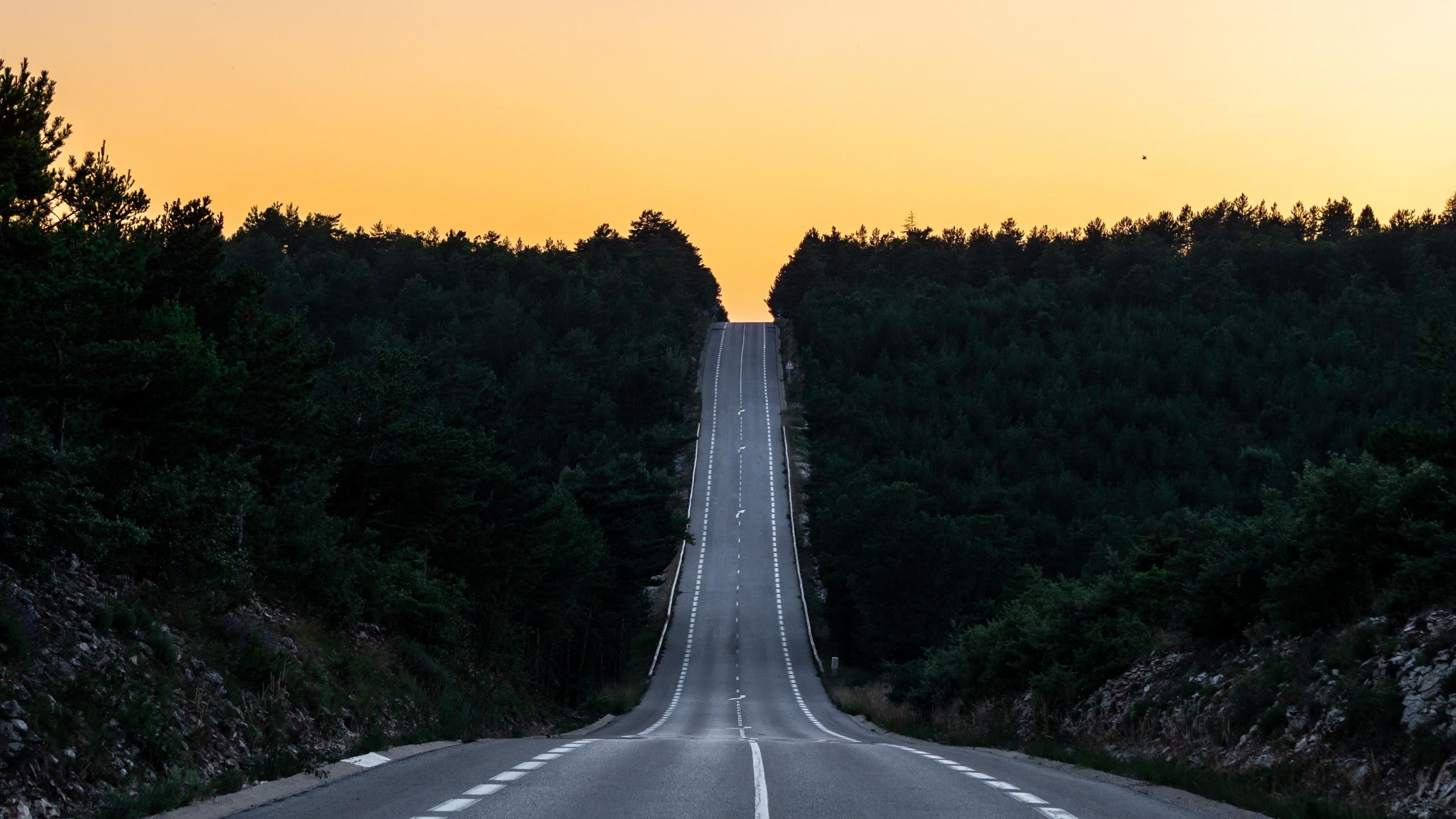 2560x1440 wallpaper road: Download 2560x1440 Wallpaper Road, Journey, Sunset, France