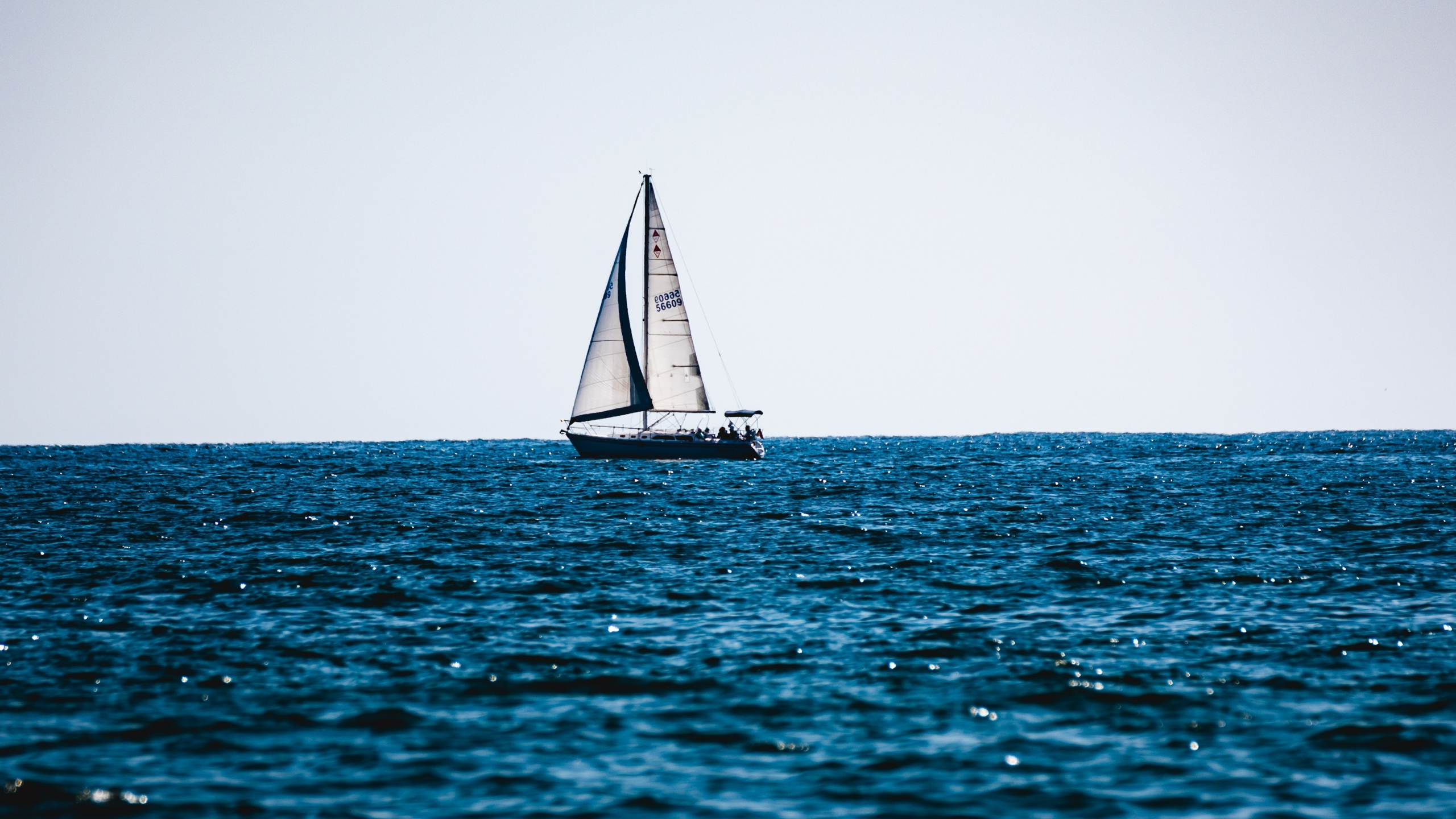 Download 2560x1440 Wallpaper Week End Out Sailboat Blue Sea Summer Dual Wide Widescreen 16 9 Widescreen 2560x1440 Hd Image Background 23181