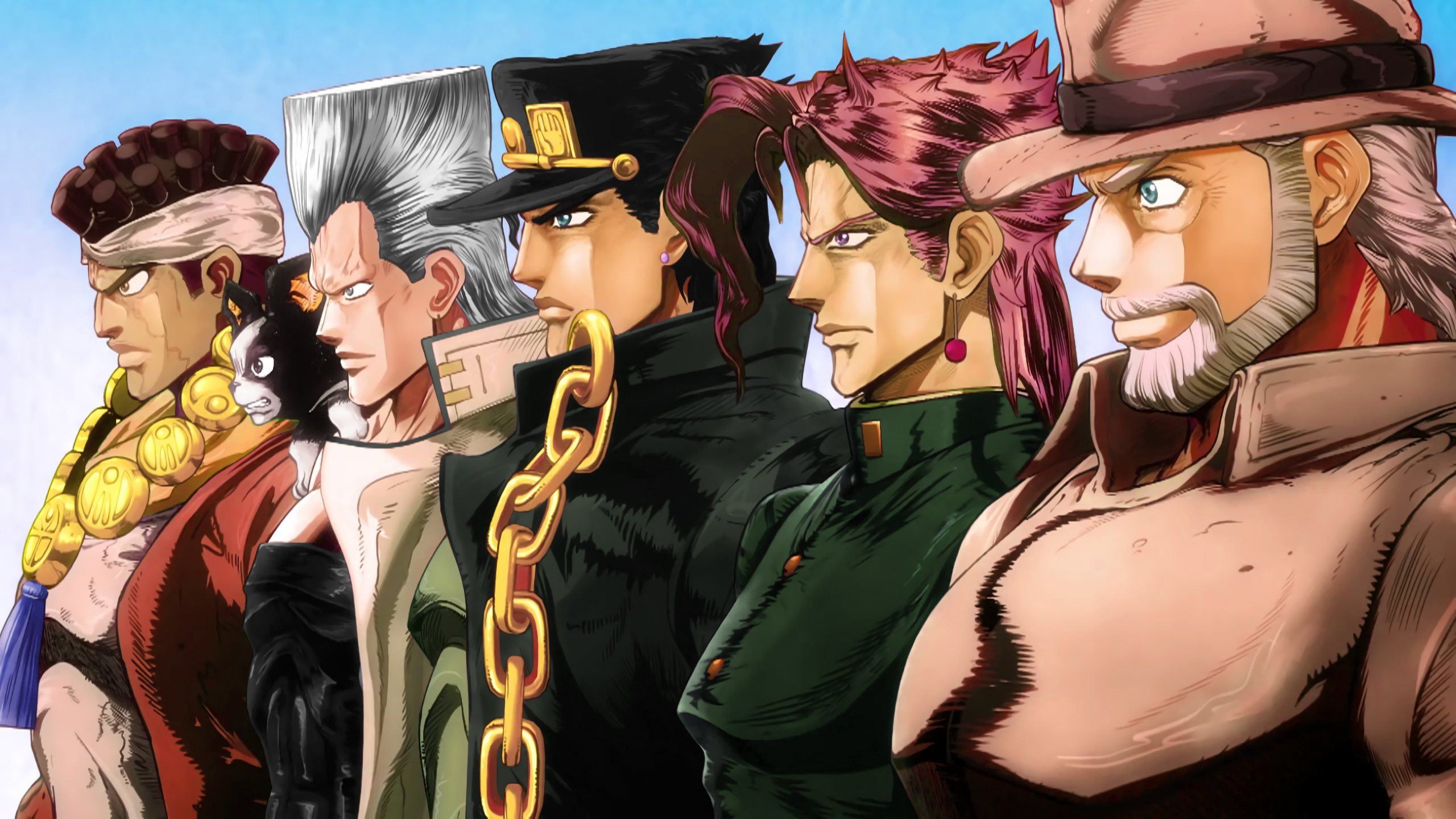 Download 2560x1440 wallpaper anime boys, jojo's bizarre ...