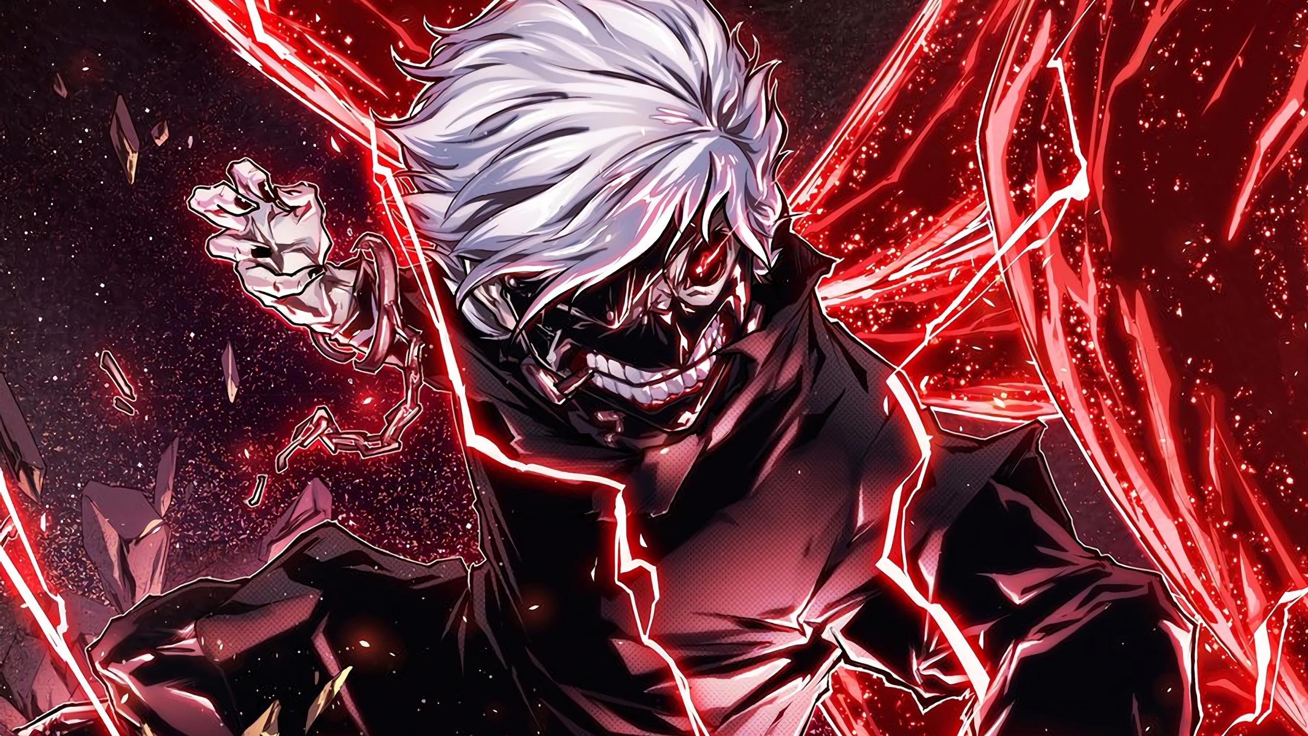 Download 2560x1440 Wallpaper Ken Kaneki Angry Anime Boy