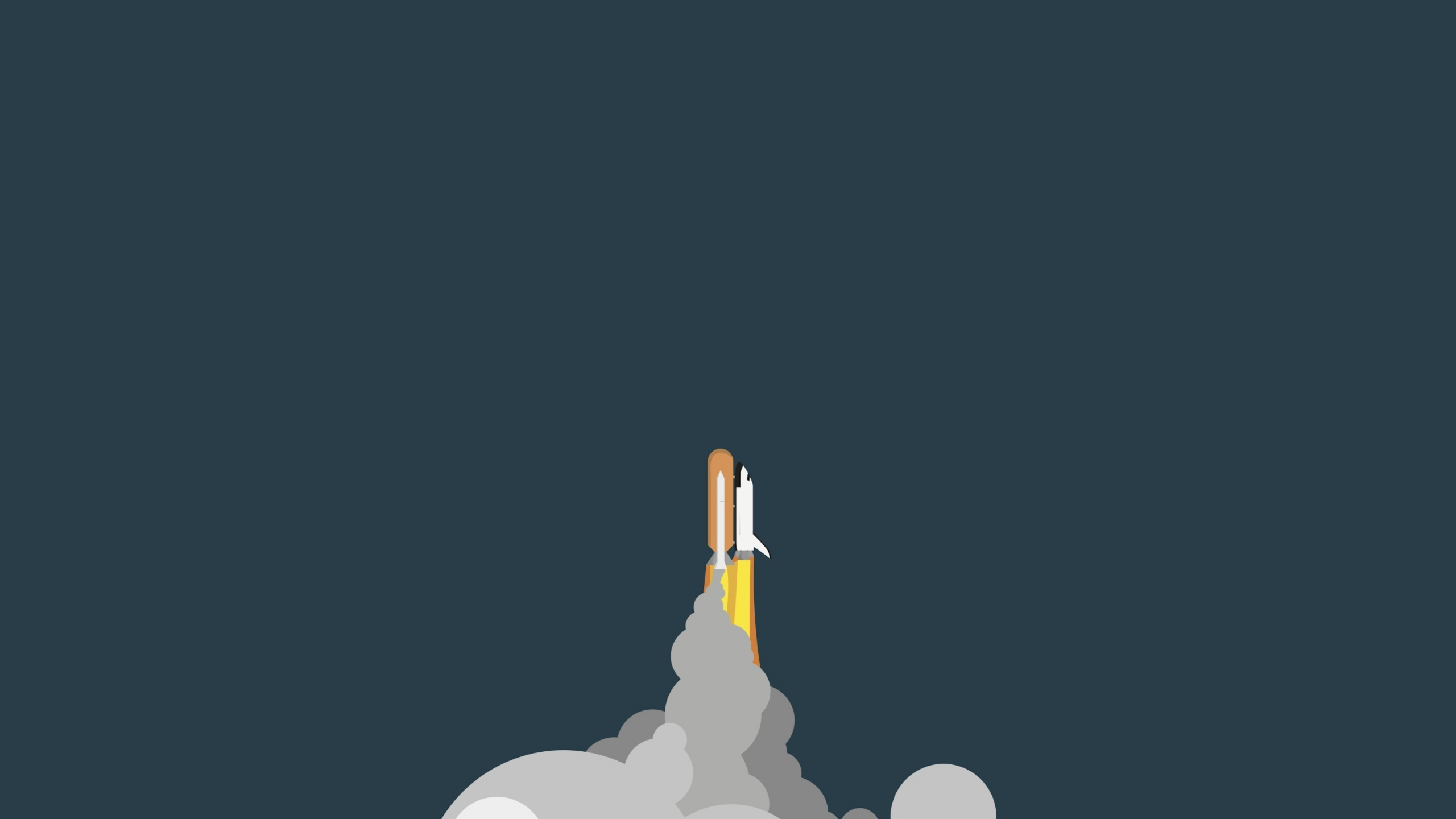 Download 2560x1440 Wallpaper Minimalist Space Rocket Clouds Dual Wide Widescreen 16 9 Widescreen 2560x1440 Hd Image Background 5886