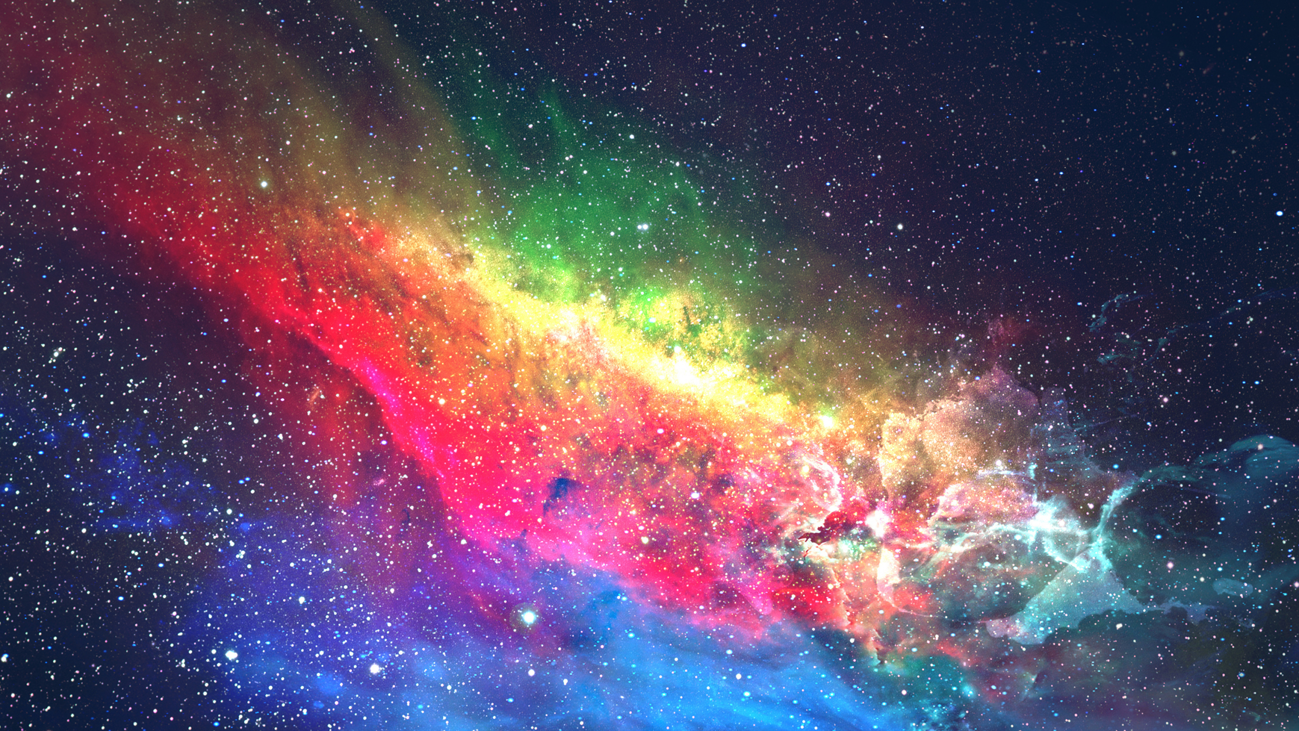 Download 2560x1440 wallpaper colorful galaxy space - Colorful galaxy wallpaper ...