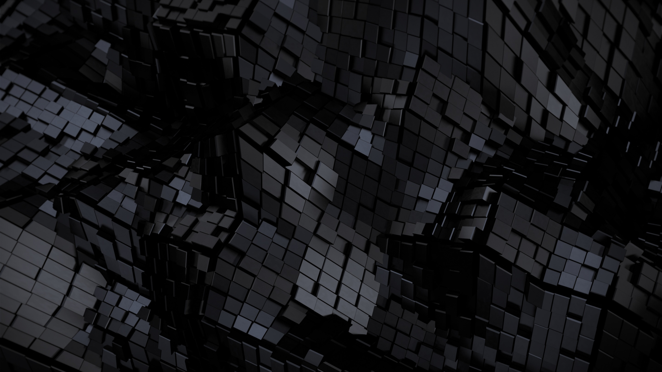 Download 2560x1440 Wallpaper Tiles Black Grid Abstract