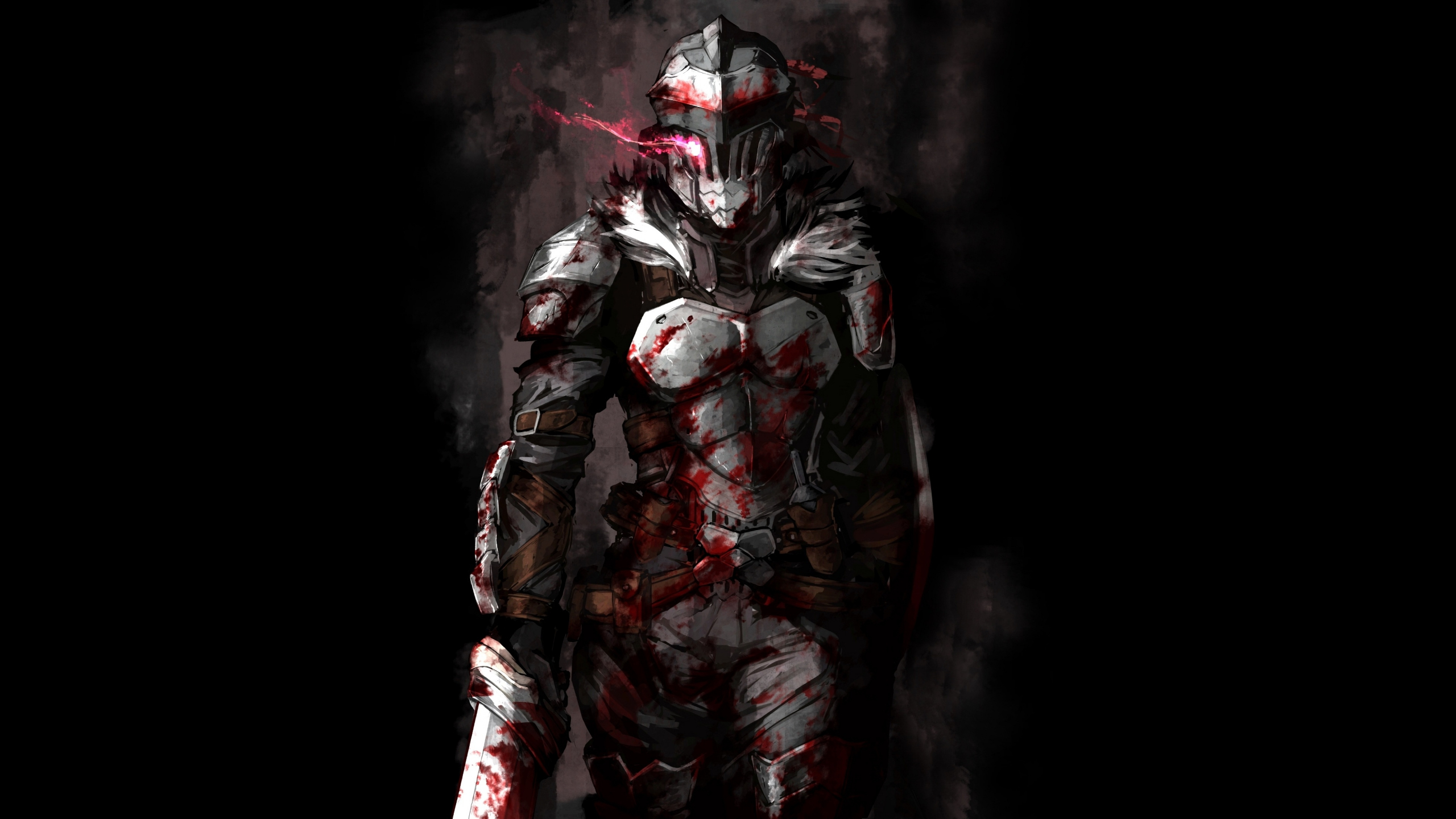 Download 2560x1440 wallpaper wounded, goblin slayer ...
