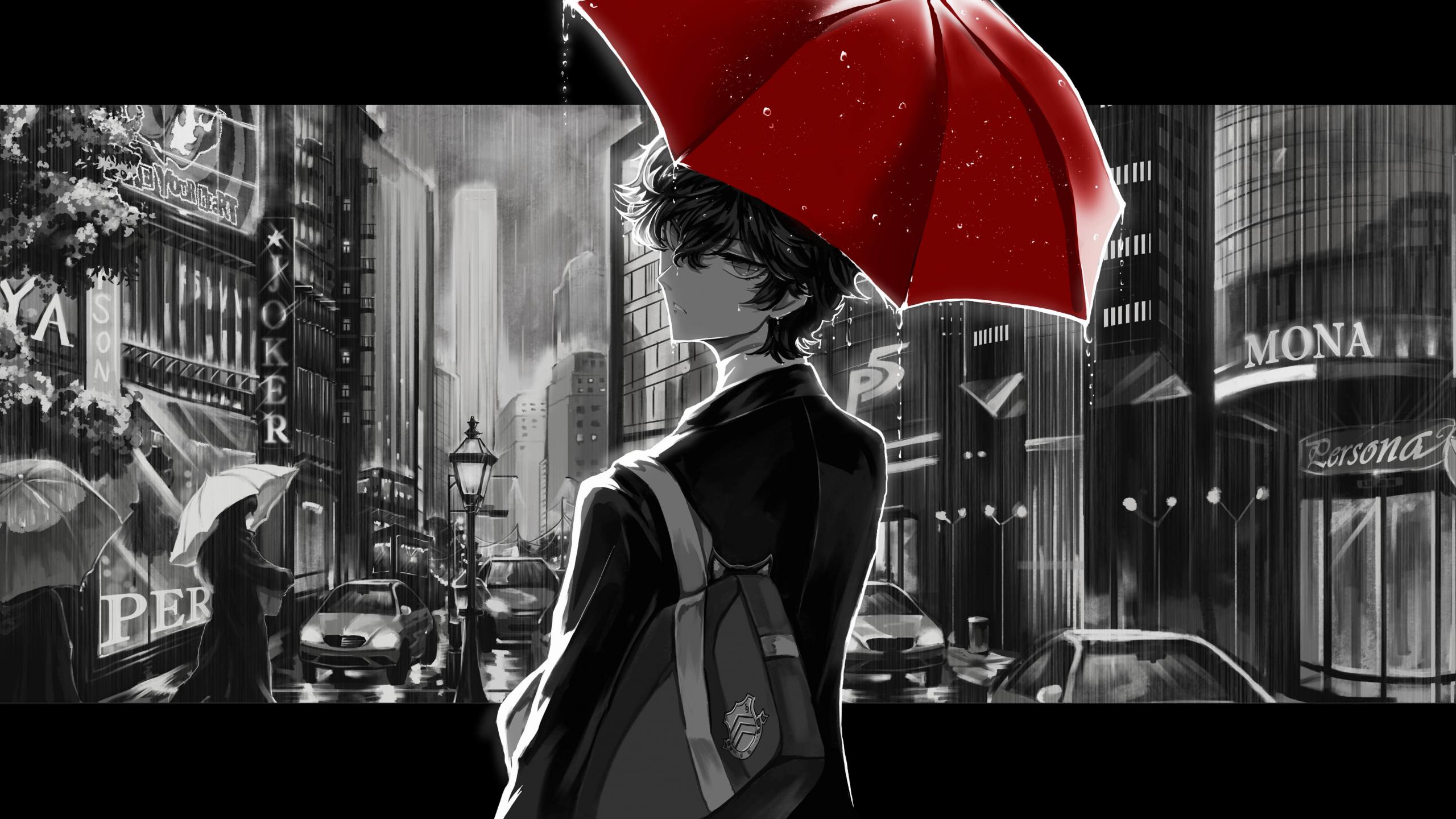 Download 2560x1440 Wallpaper Persona 5 Video Game Akira