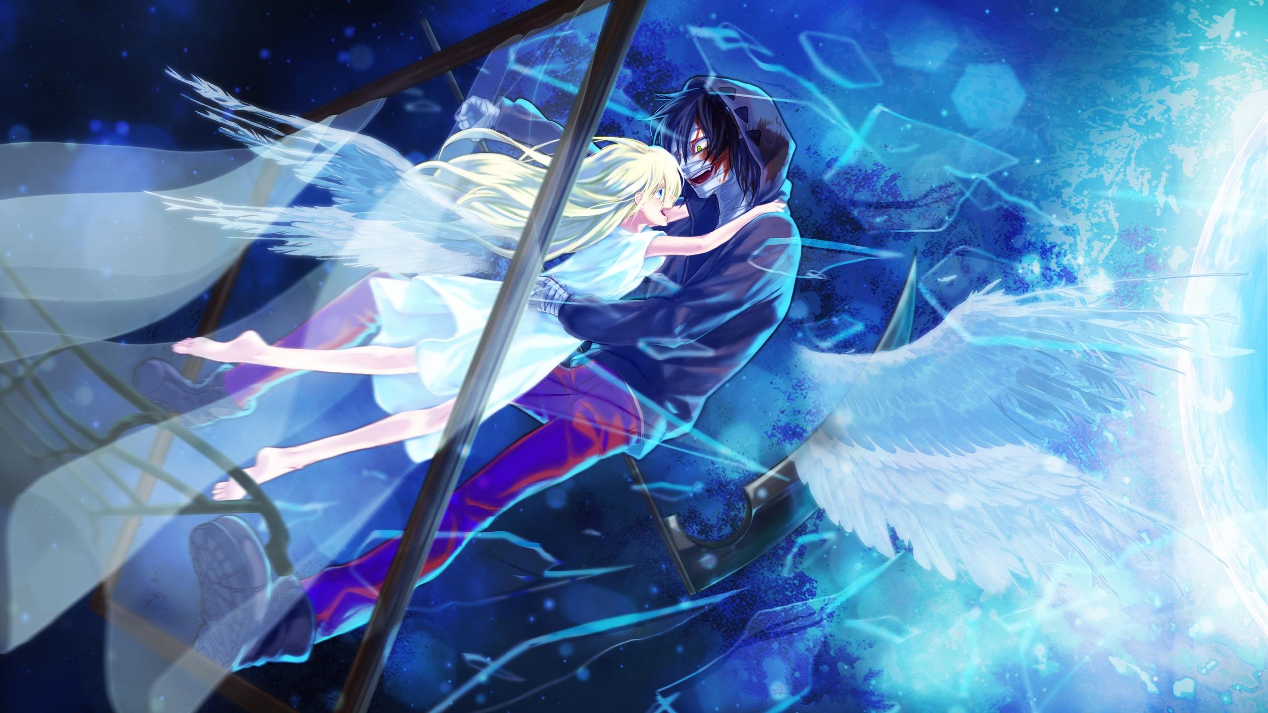 Download 2560x1440 Wallpaper Anime Rachel Gardner And Zack Couple Dual Wide Widescreen 16 9 Widescreen 2560x1440 Hd Image Background 10378