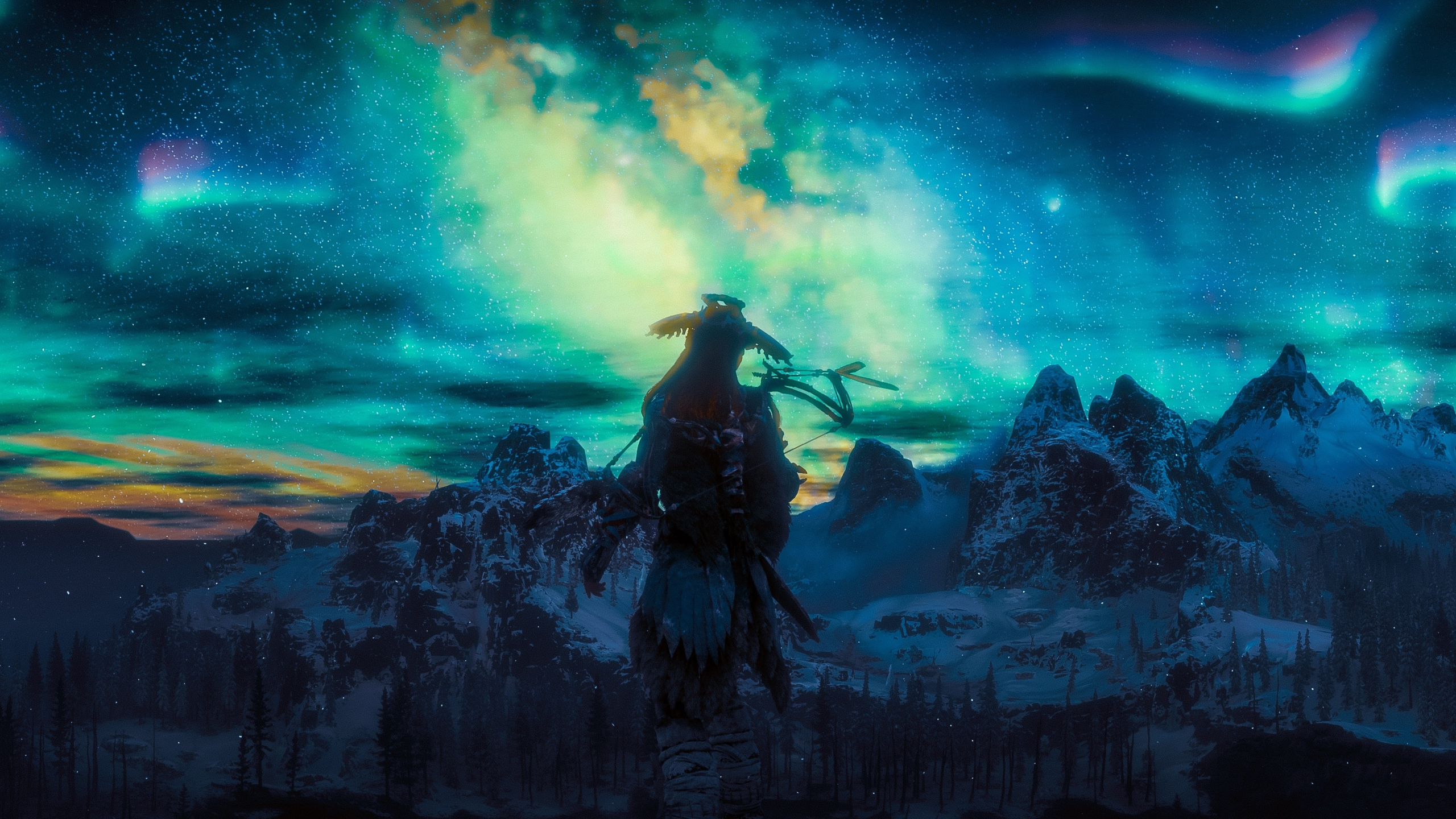 Download 2560x1440 Wallpaper Northern Lights Aloy Video