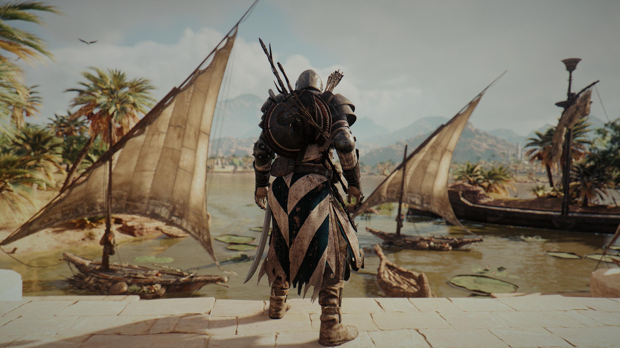 Download 2560x1440 Wallpaper Assassin S Creed Origins Bayek Of