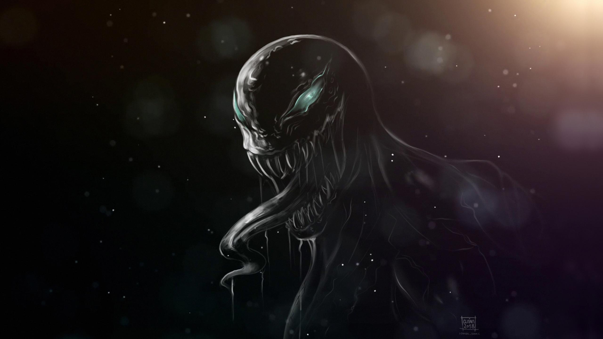 Download 2560x1440 wallpaper dark, minimal, villain, venom ...