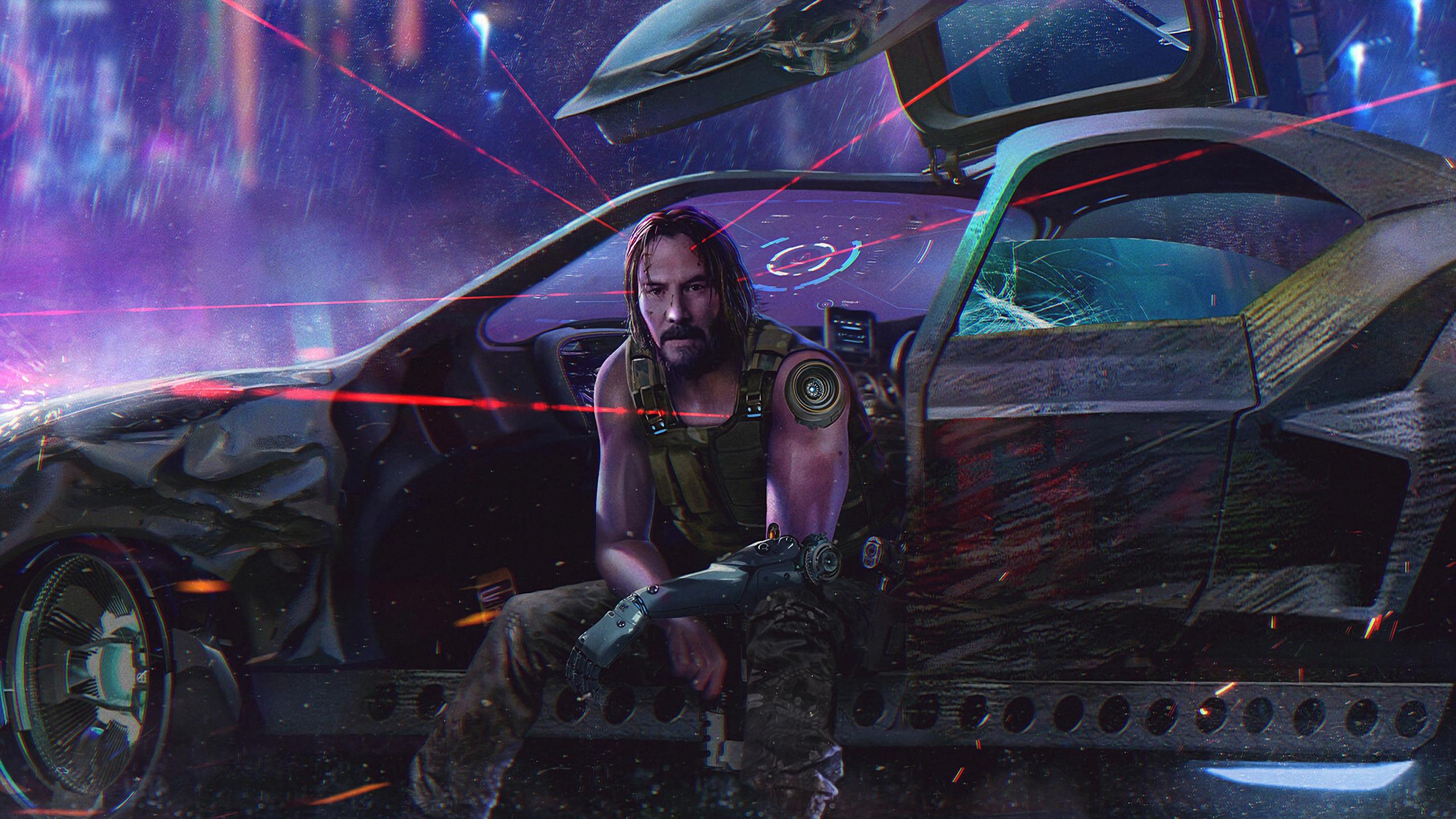 Download 2560x1440 Wallpaper Cyberpunk 2077 Keanu Reeves Video Game 2019 Dual Wide Widescreen 16 9 Widescreen 2560x1440 Hd Image Background 22156