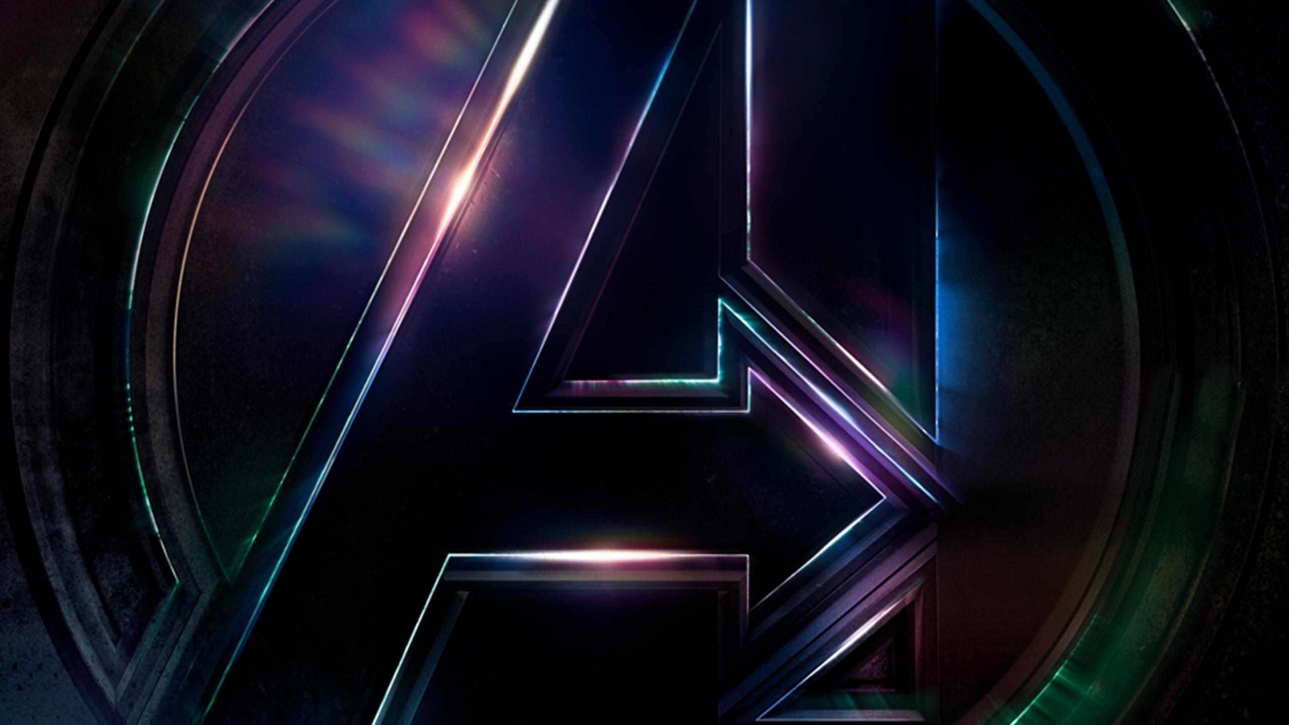 Download 2560x1440 wallpaper avengers infinity war 2018 - Avengers a logo 4k ...