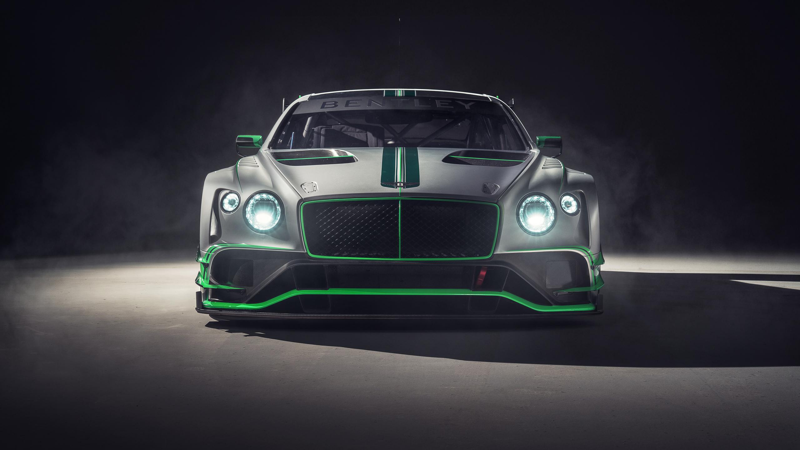 Bentley continental GT3, 2018 car, front, 2560x1440 wallpaper