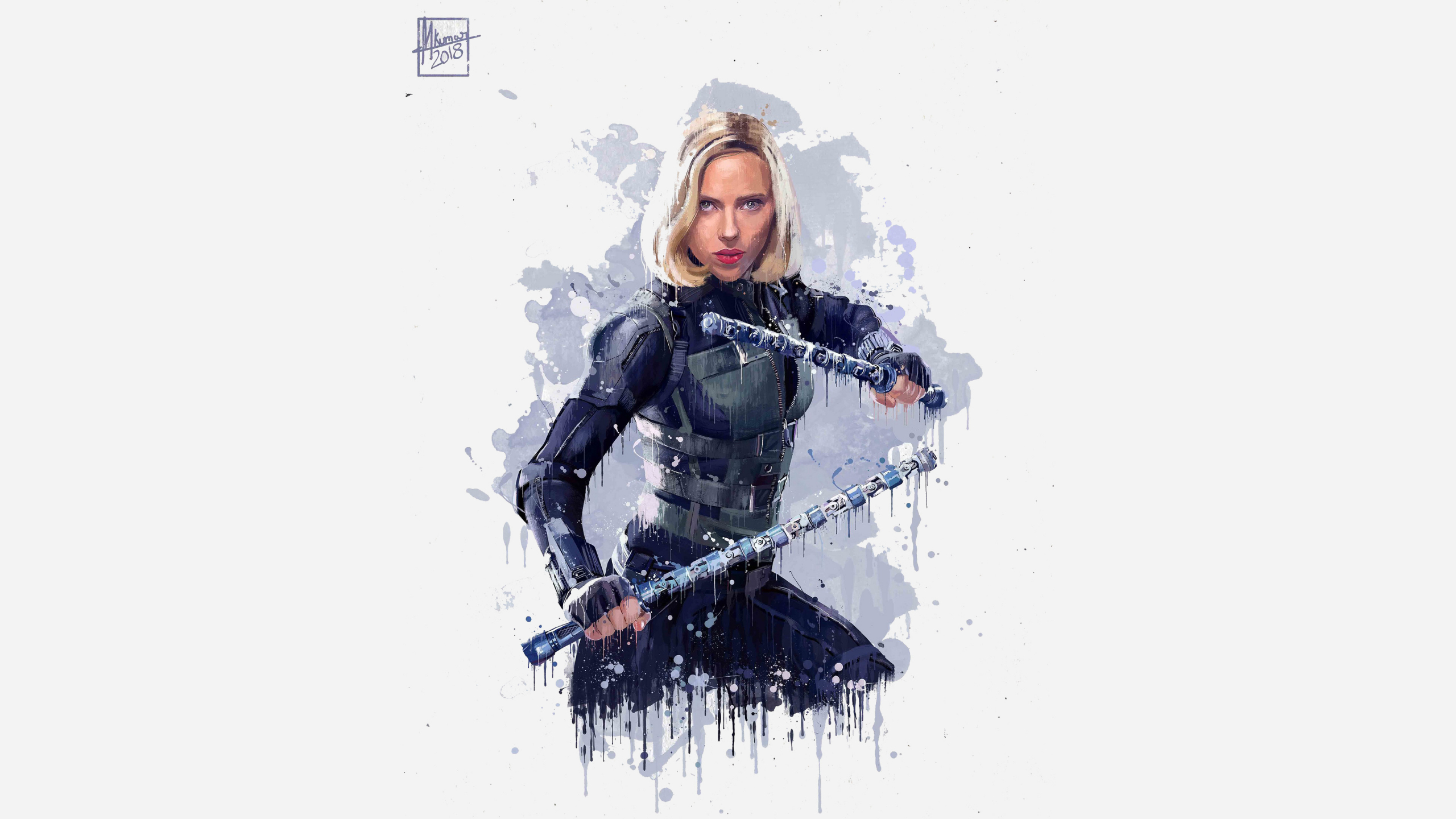 Download 2560x1440 wallpaper black widow, avengers ...