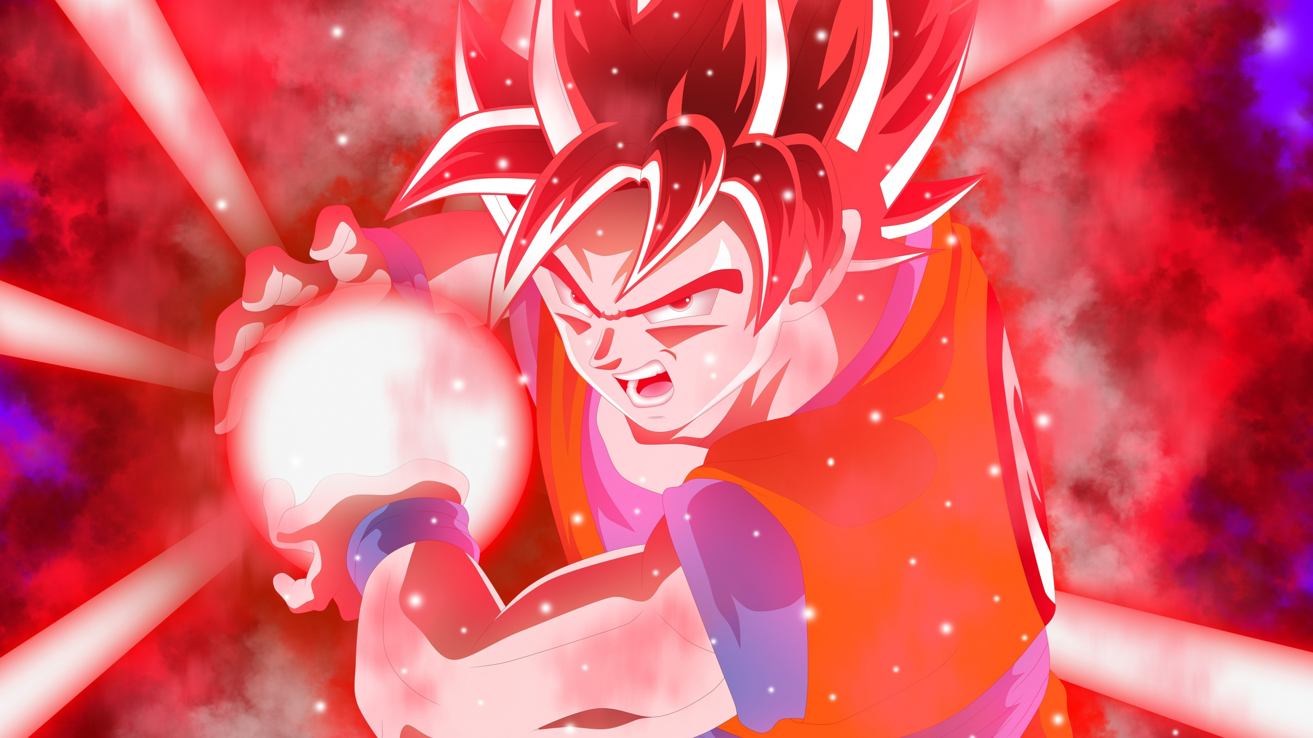 Download 2560x1440 Wallpaper Red Ultra Instinct Anime