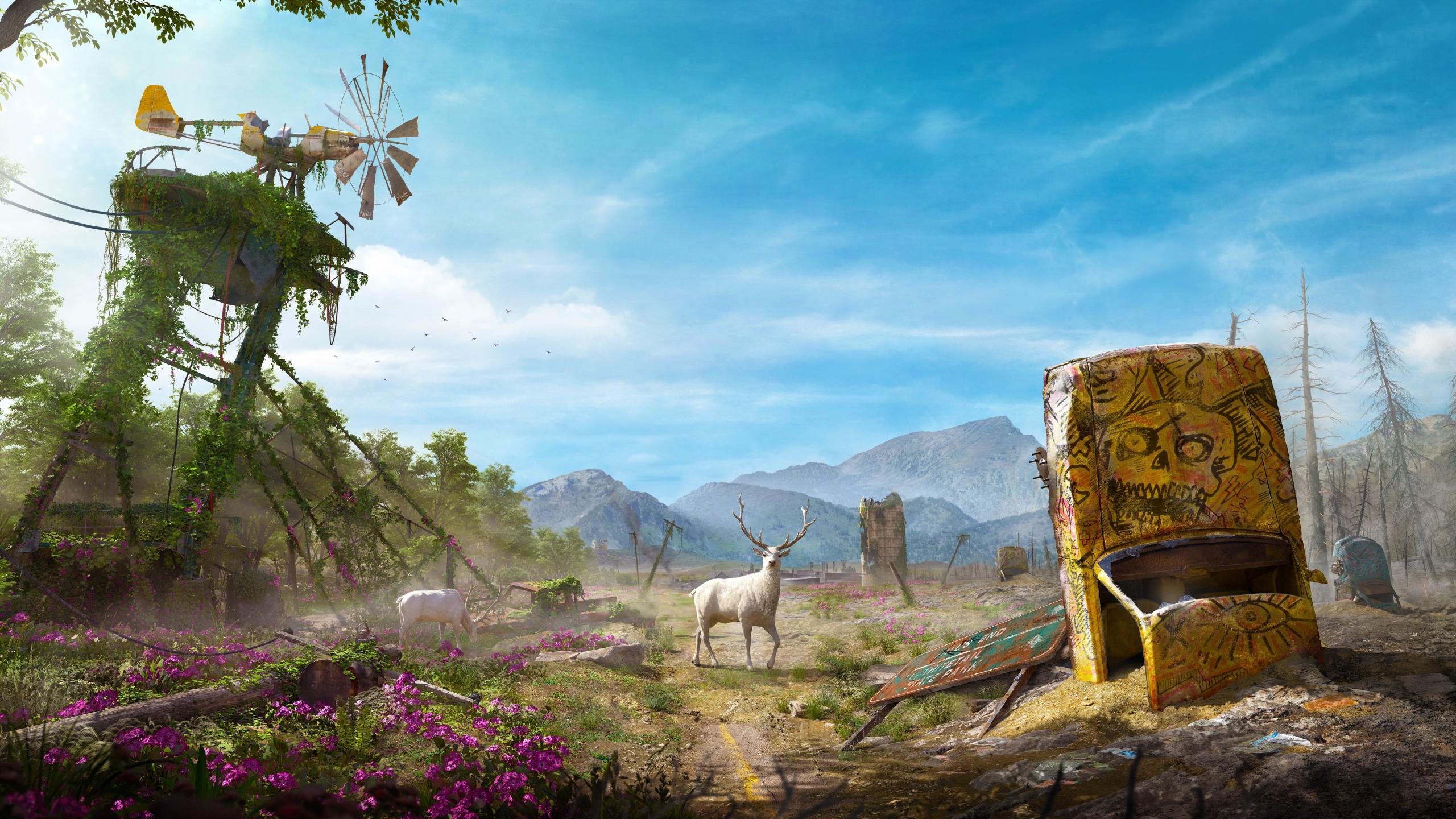 Download 2560x1440 Wallpaper Landscape Deer Video Game Far Cry