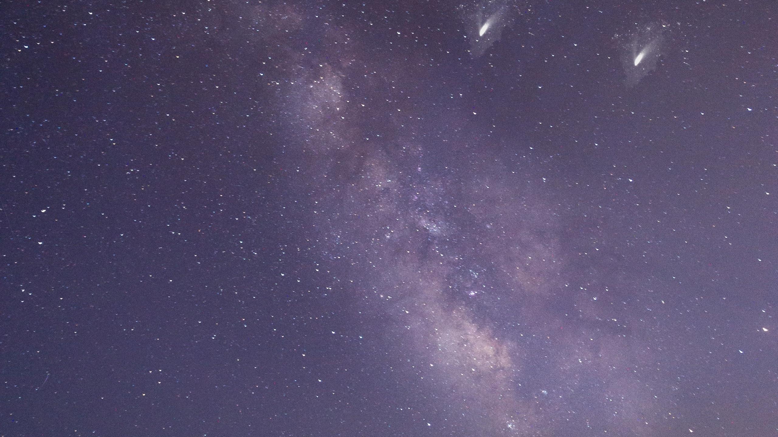 Milky way, desert, night, sky, 2560x1440 wallpaper